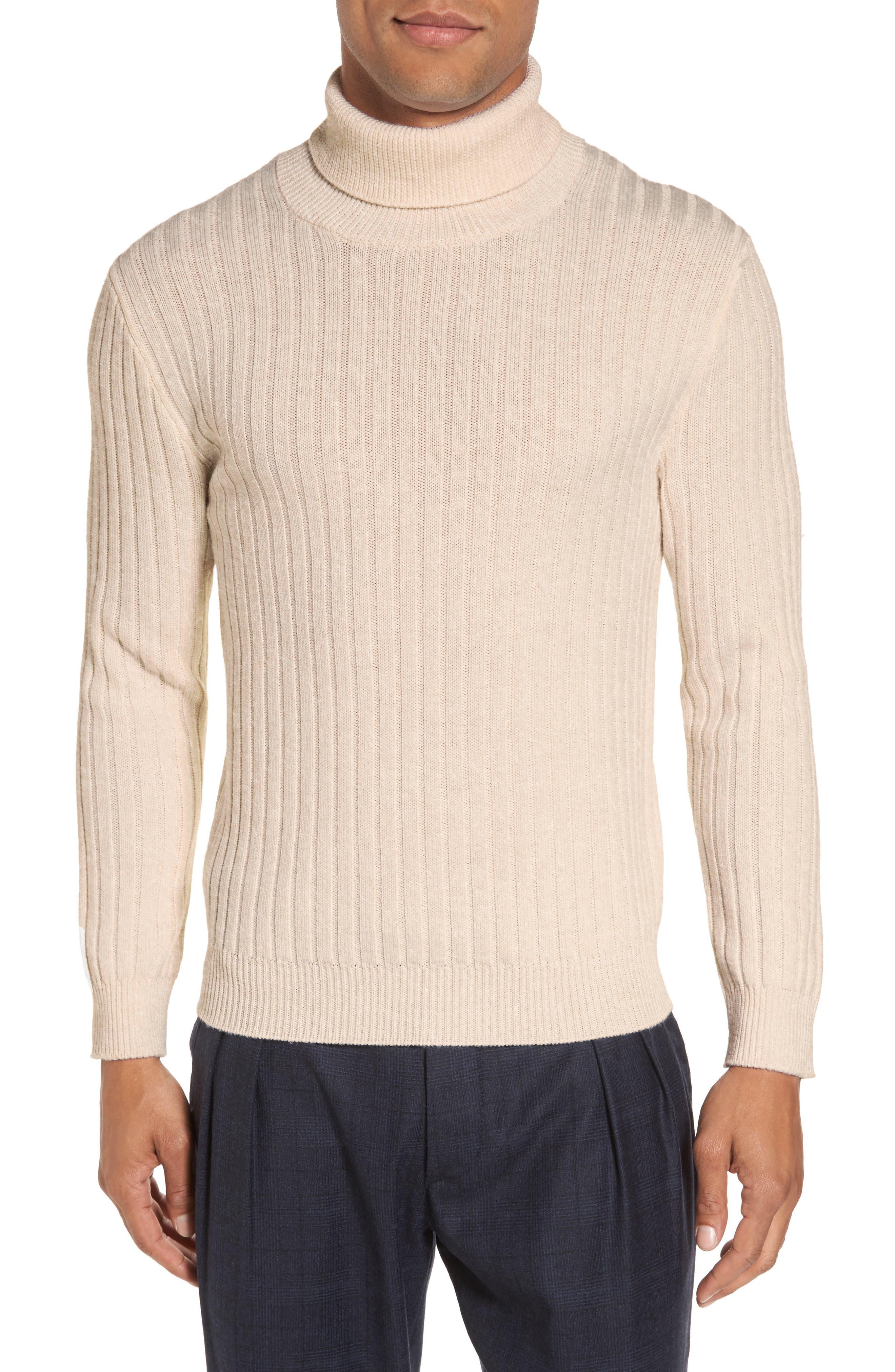 Alternate Image 1 Selected - Eleventy Ribbed Turtleneck Wool Sweater