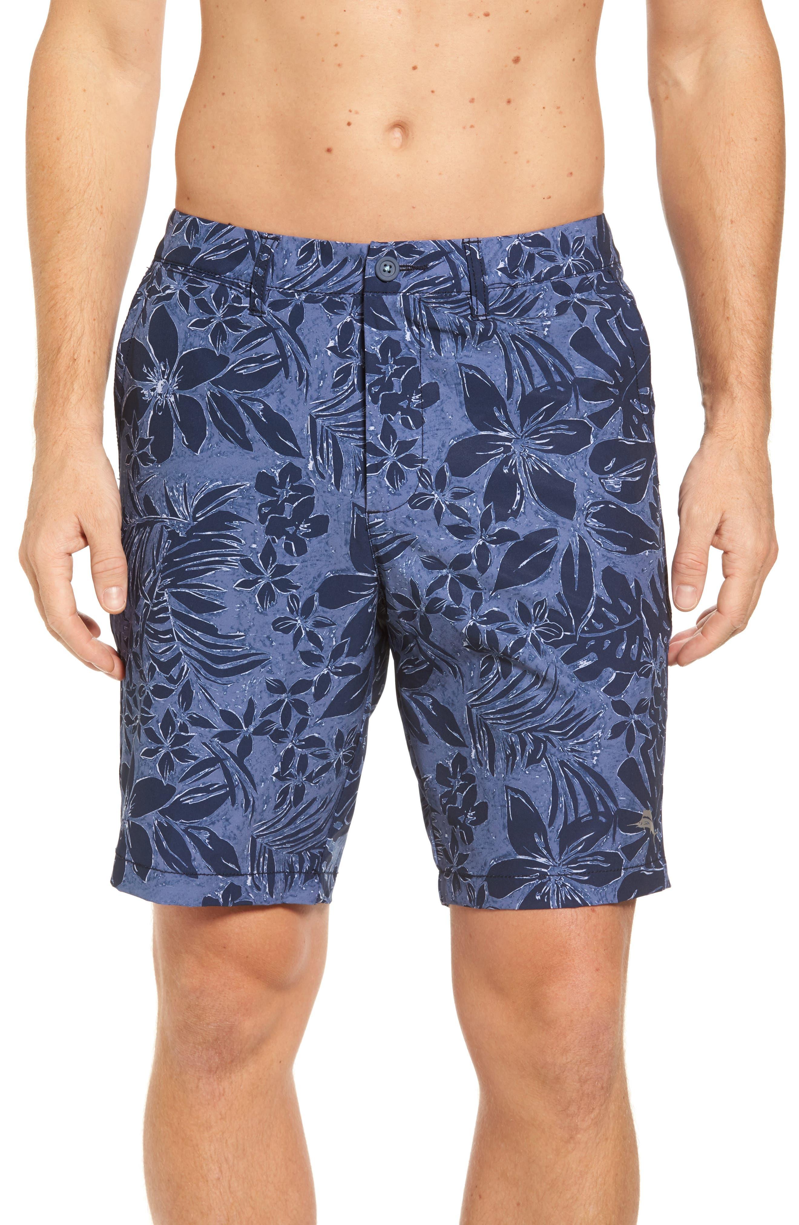 Cayman Camo Safari Hybrid Shorts,                         Main,                         color, Ocean Deep