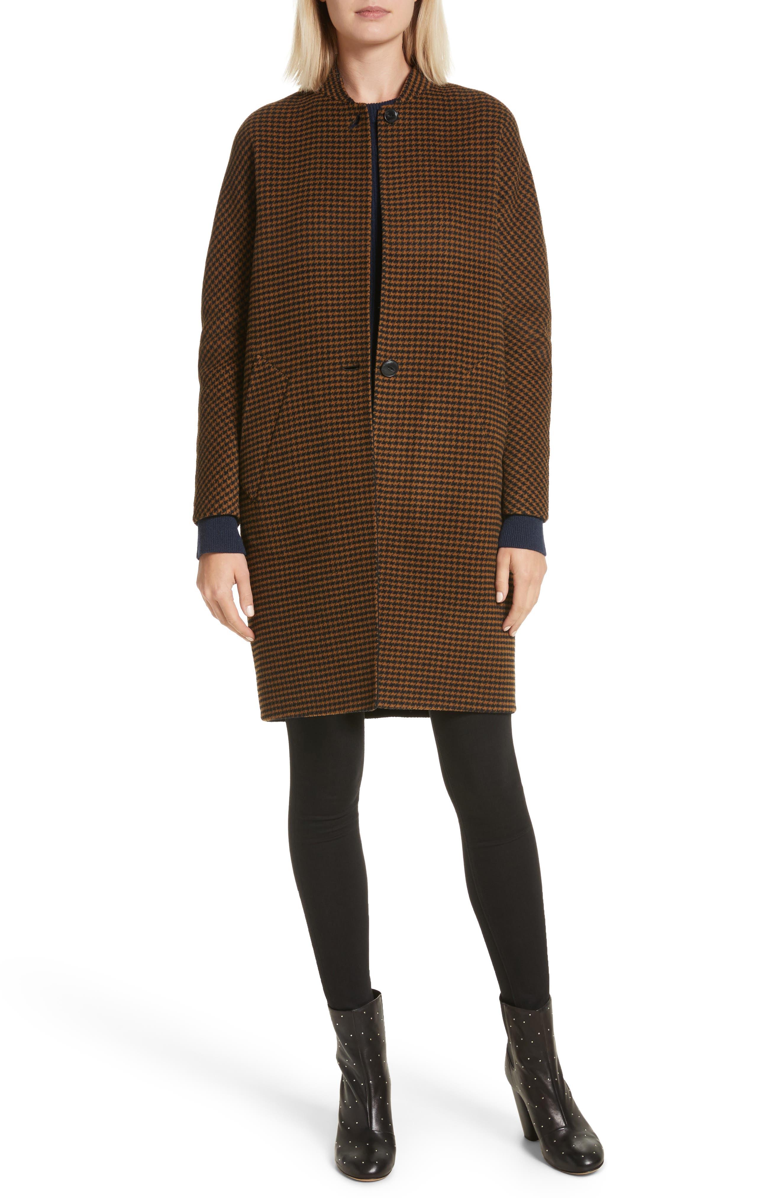 Darwen Reversible Wool & Cashmere Coat,                             Alternate thumbnail 2, color,                             Brown/Black