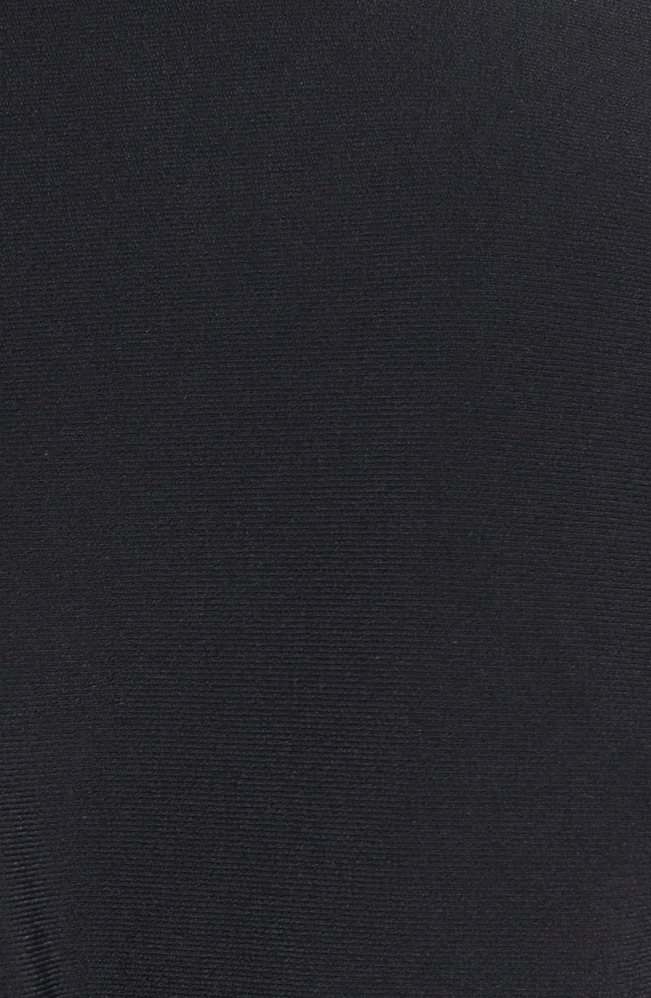 Knit Flare Top,                             Alternate thumbnail 5, color,                             Black