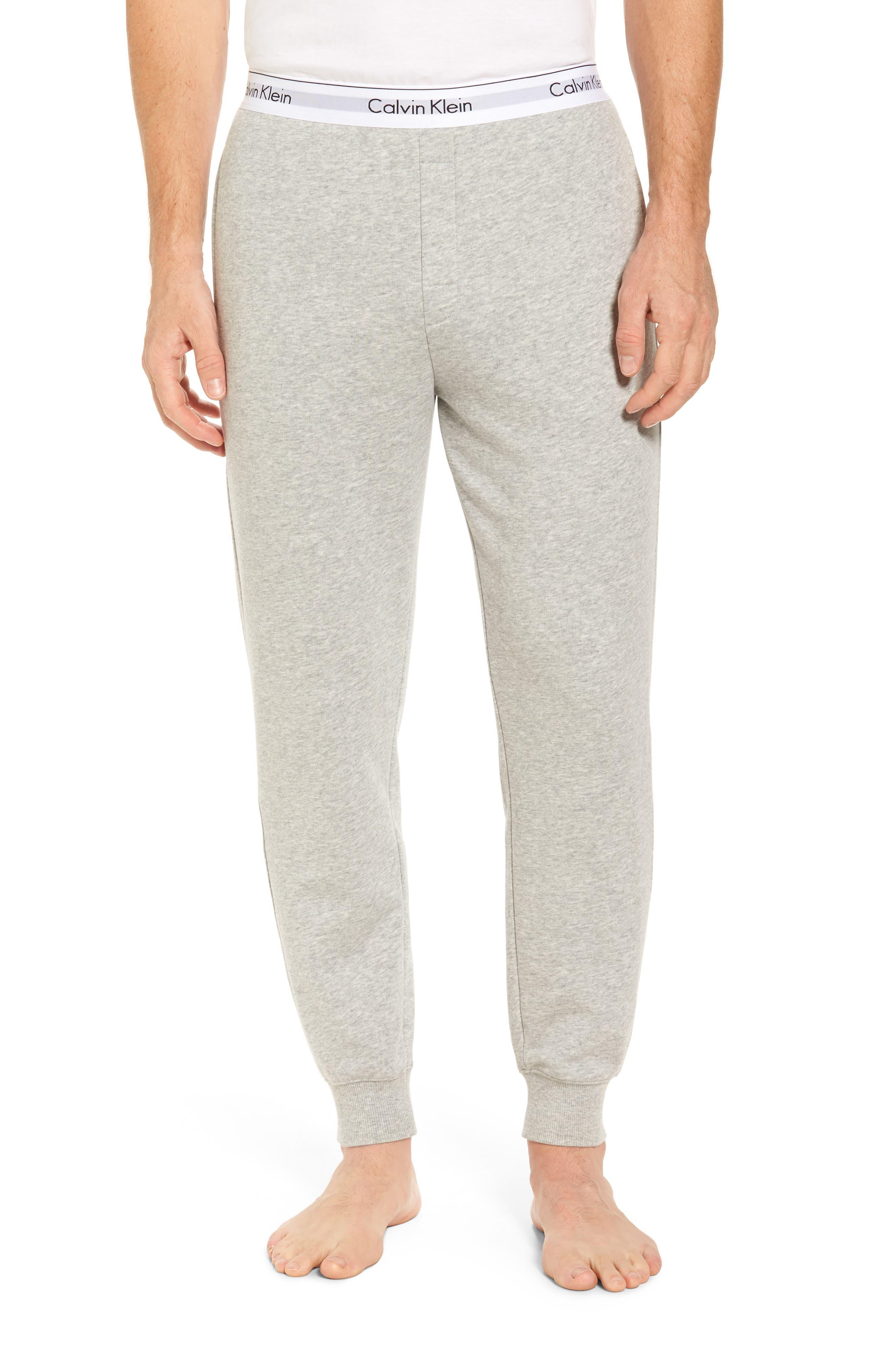 Modern Cotton Blend Lounge Pants,                             Main thumbnail 1, color,                             Grey Heather