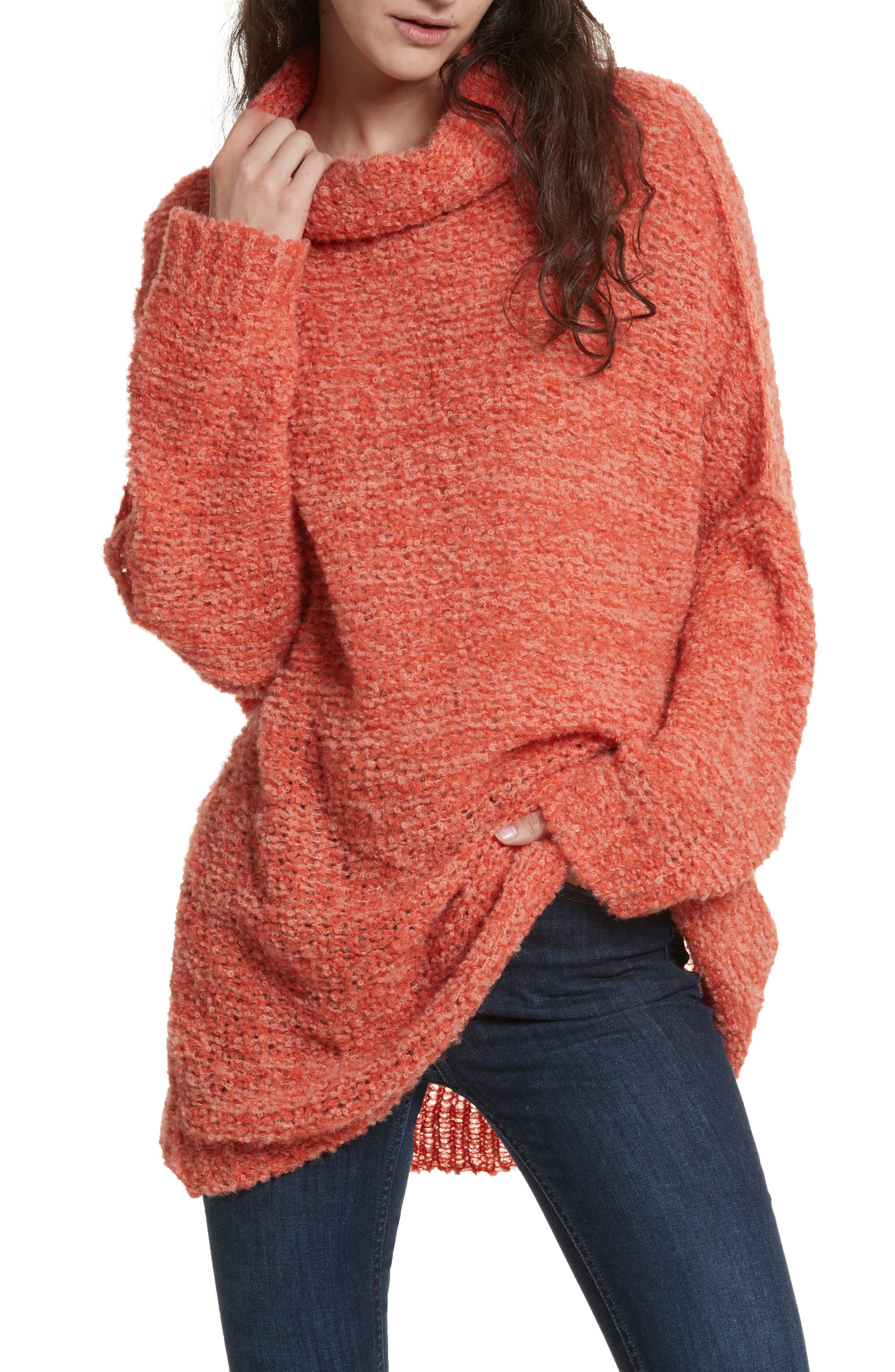 'She's All That' Knit Turtleneck Sweater,                         Main,                         color, Orange