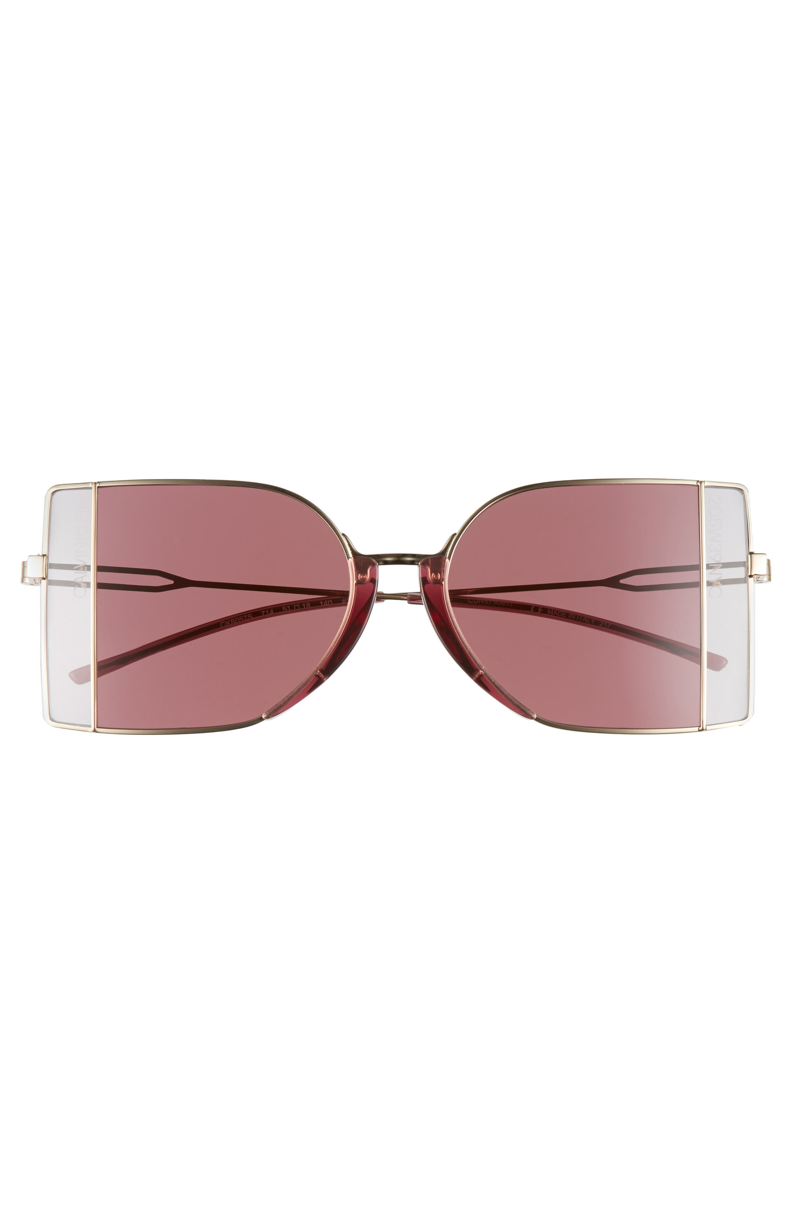Alternate Image 3  - CALVIN KLEIN 205W39NYC 51mm Butterfly Sunglasses