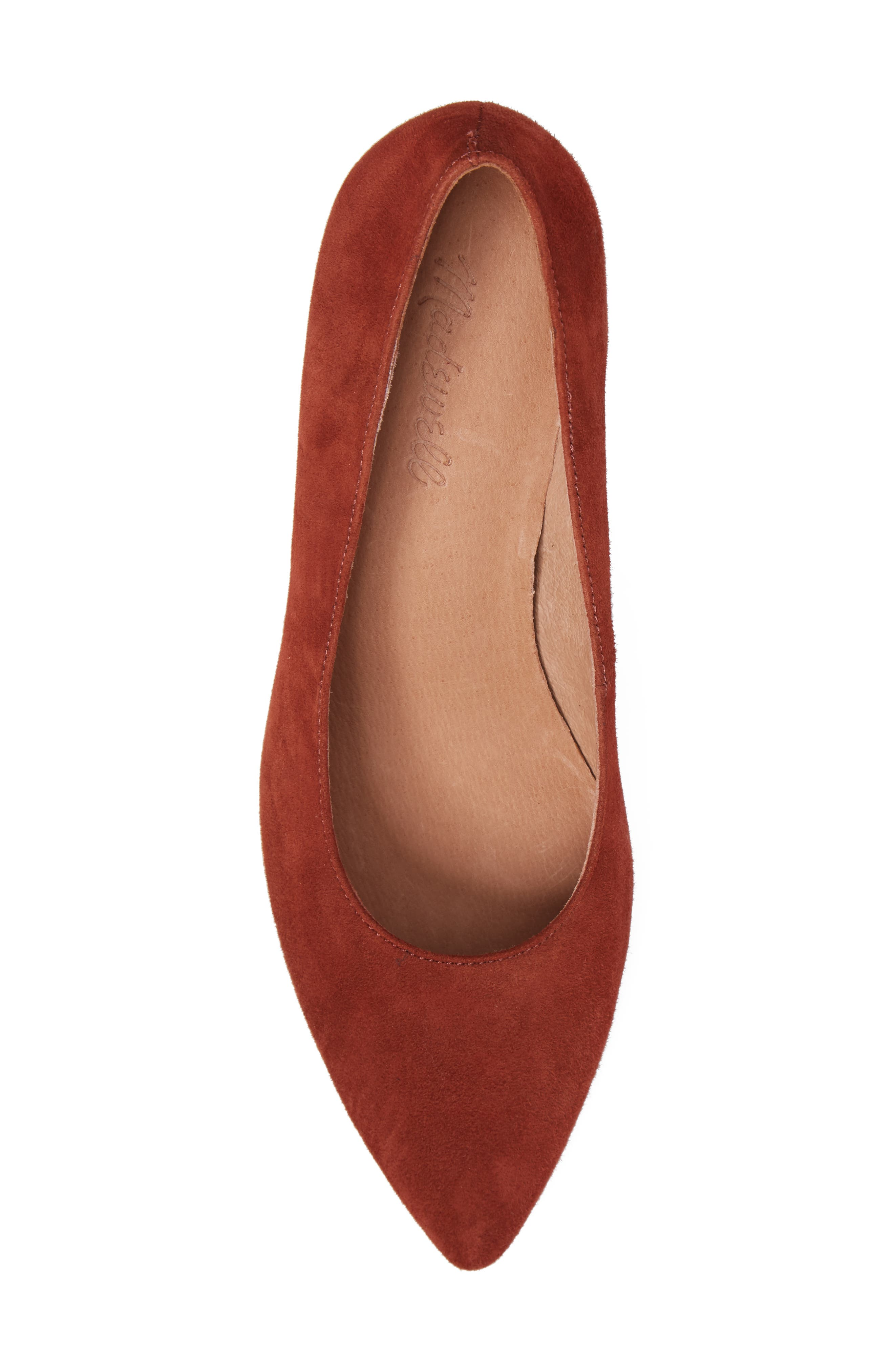 Rivka Pointy Toe Pump,                             Alternate thumbnail 5, color,                             Vintage Redwood Suede
