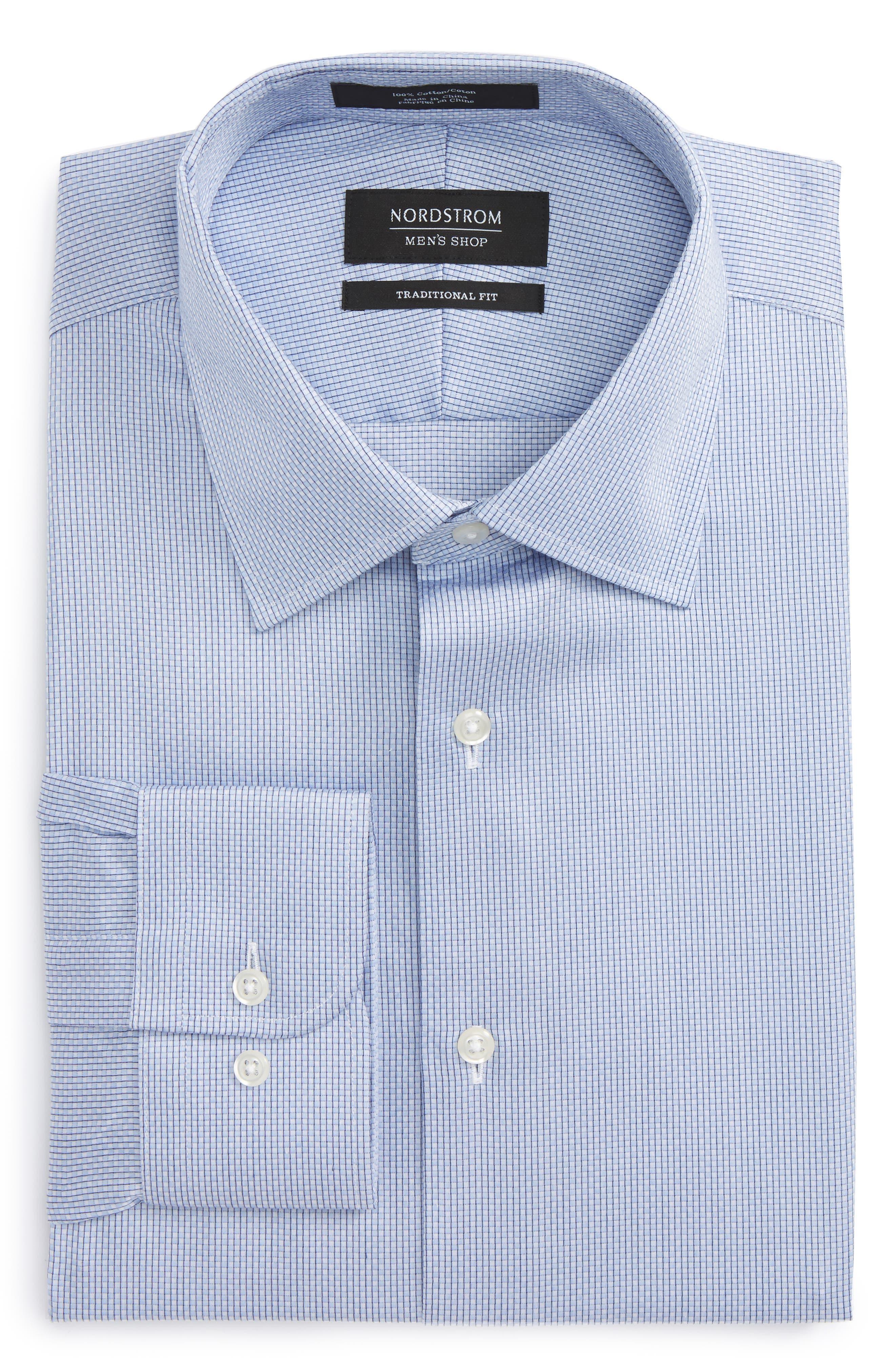Alternate Image 1 Selected - Nordstrom Men's Shop Traditional Fit Stripe Dress Shirt