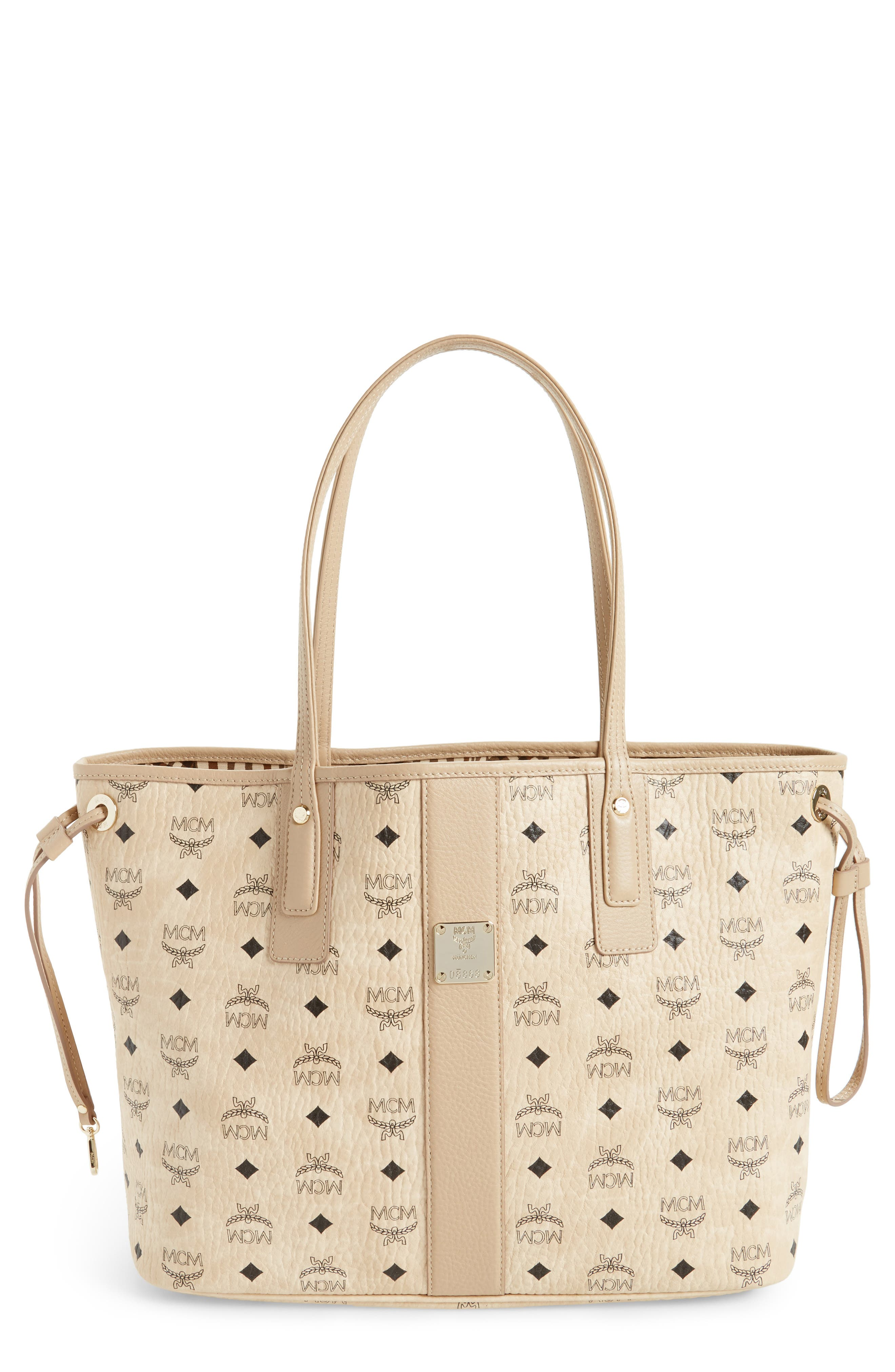 MCM Medium Liz Reversible Visetos Coated Canvas Shopper