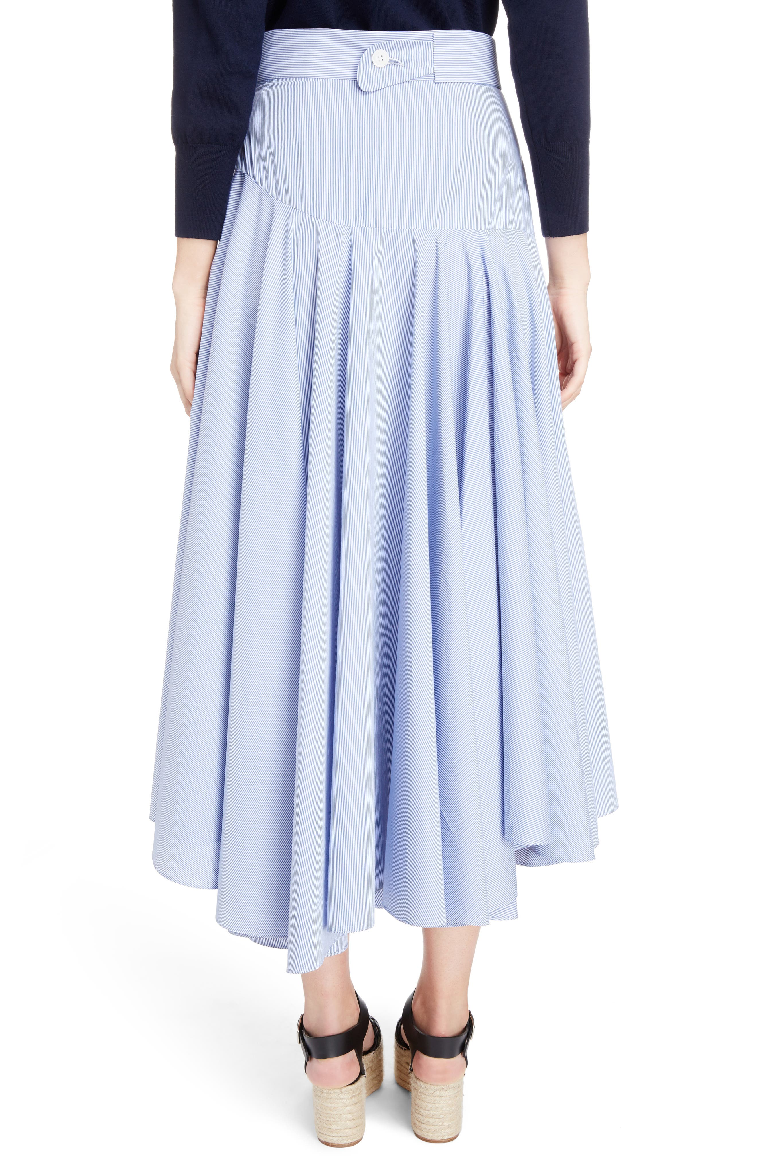 Alternate Image 2  - Loewe Stripe Cotton Skater Skirt