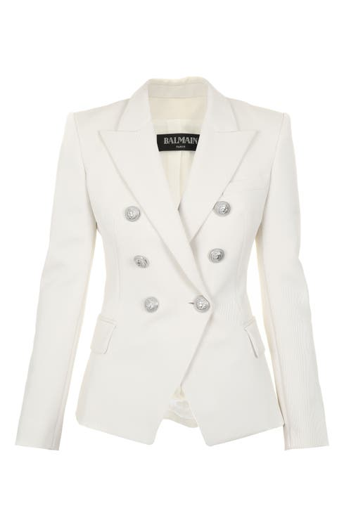 Main Image - Balmain Double Breasted Wool Blend Blazer