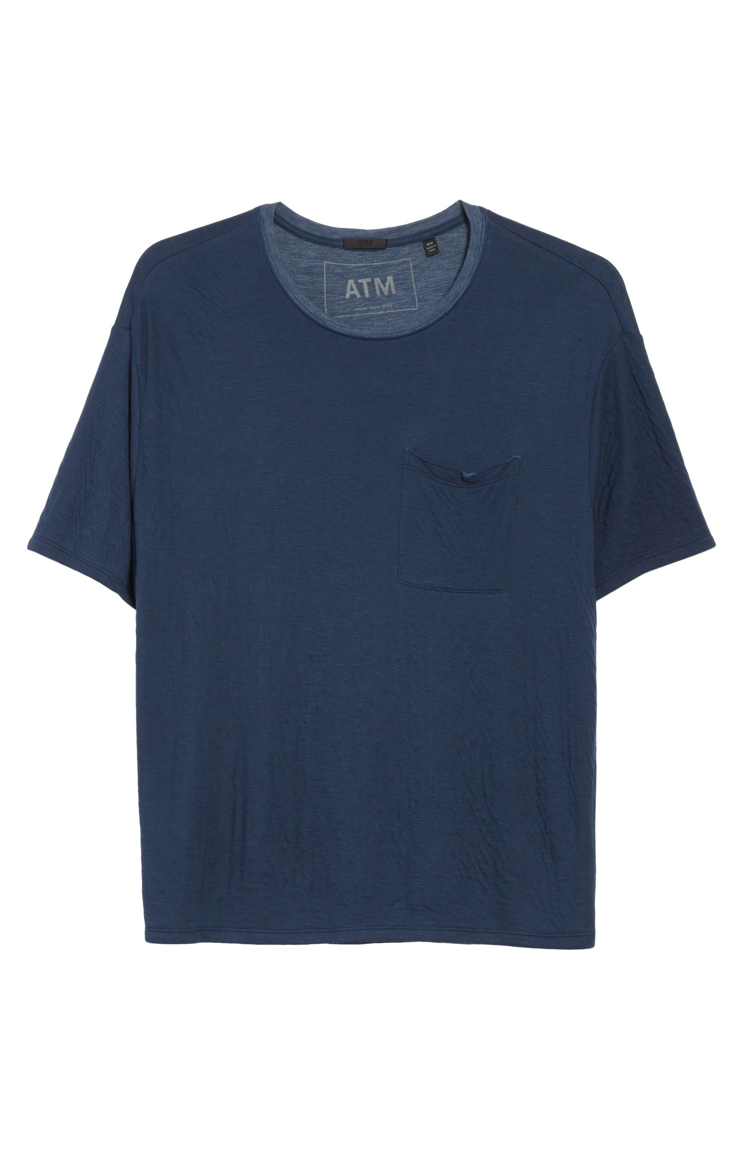 Double Face T-Shirt,                             Alternate thumbnail 6, color,                             Navy