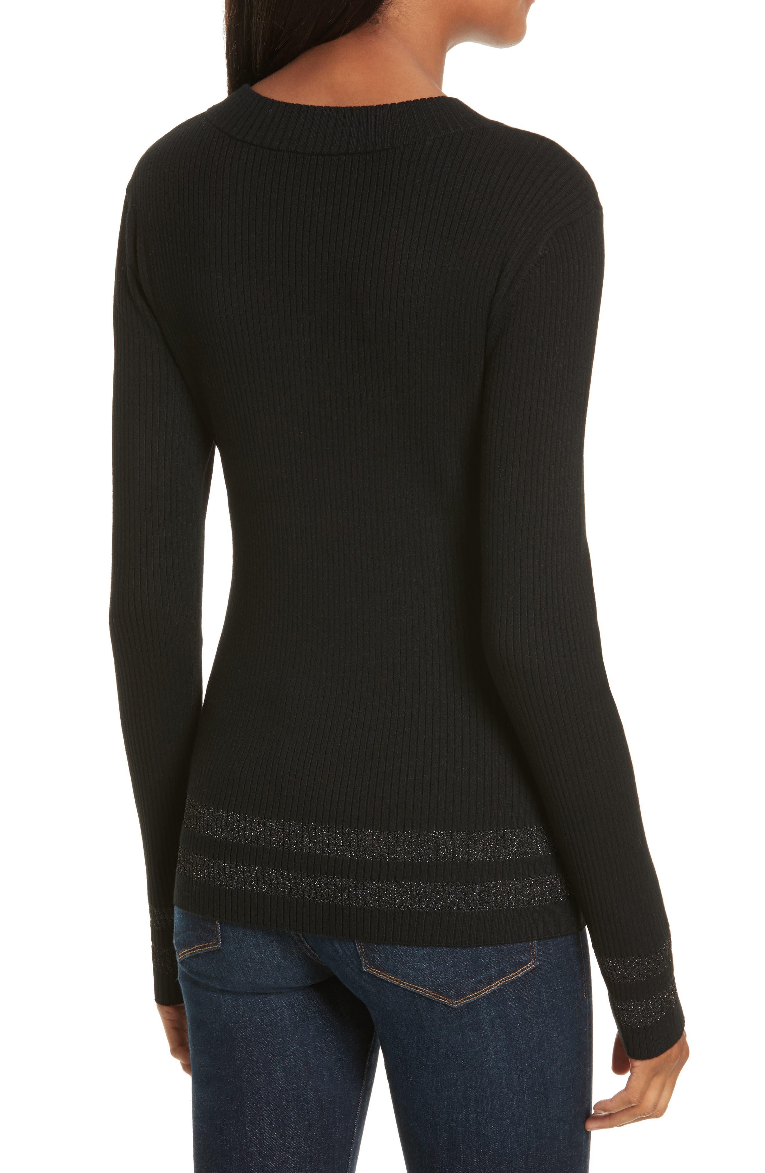 Alternate Image 2  - FRAME Metallic Knit Sweater