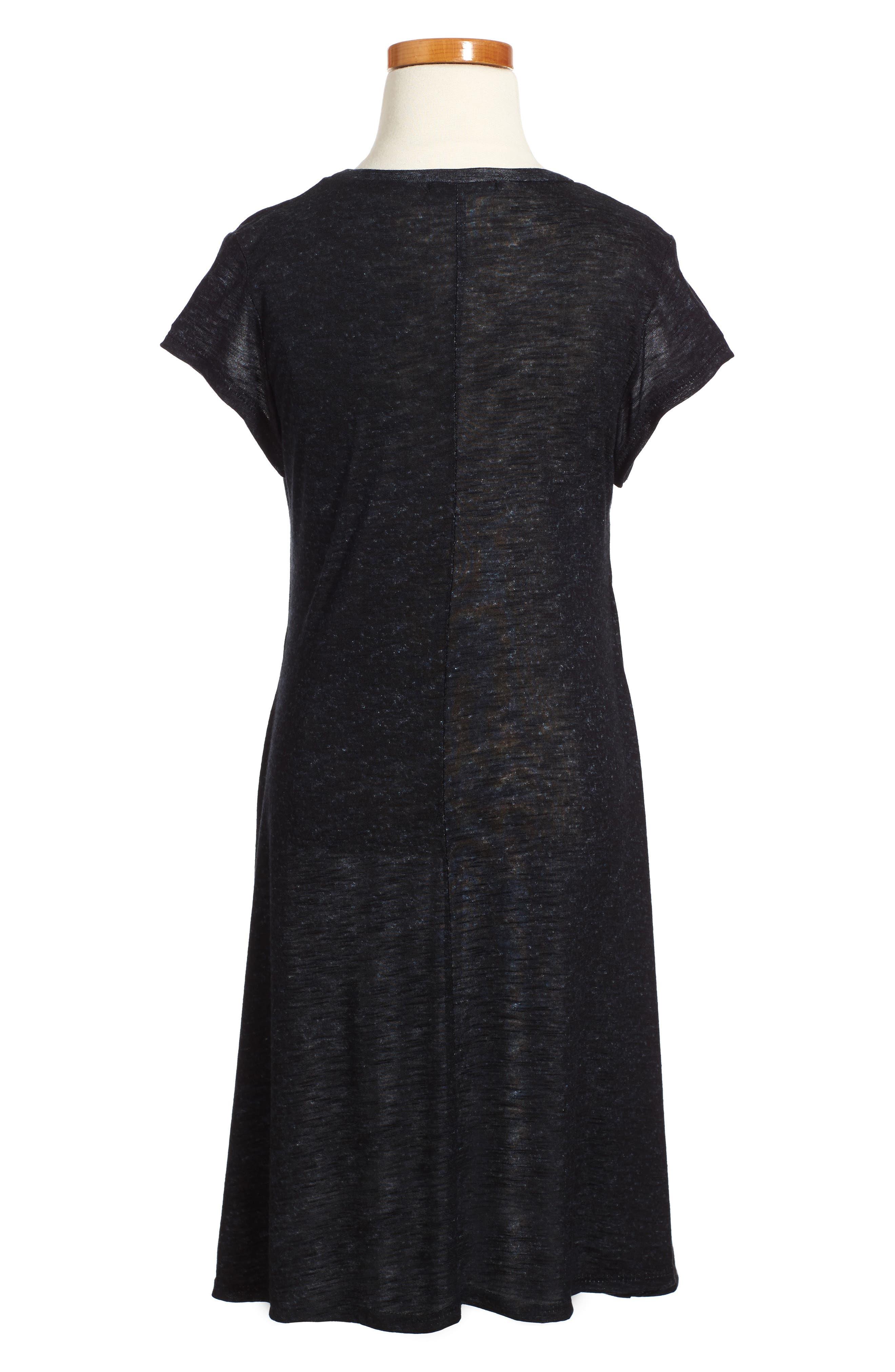 Dress,                             Alternate thumbnail 2, color,                             Black