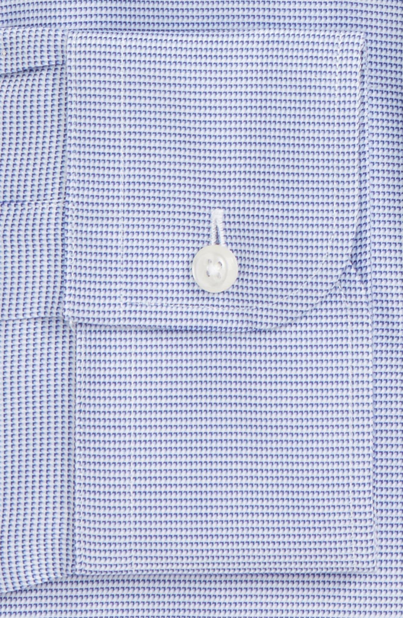 Trim Fit Solid Dress Shirt,                             Alternate thumbnail 2, color,                             Blue Marine