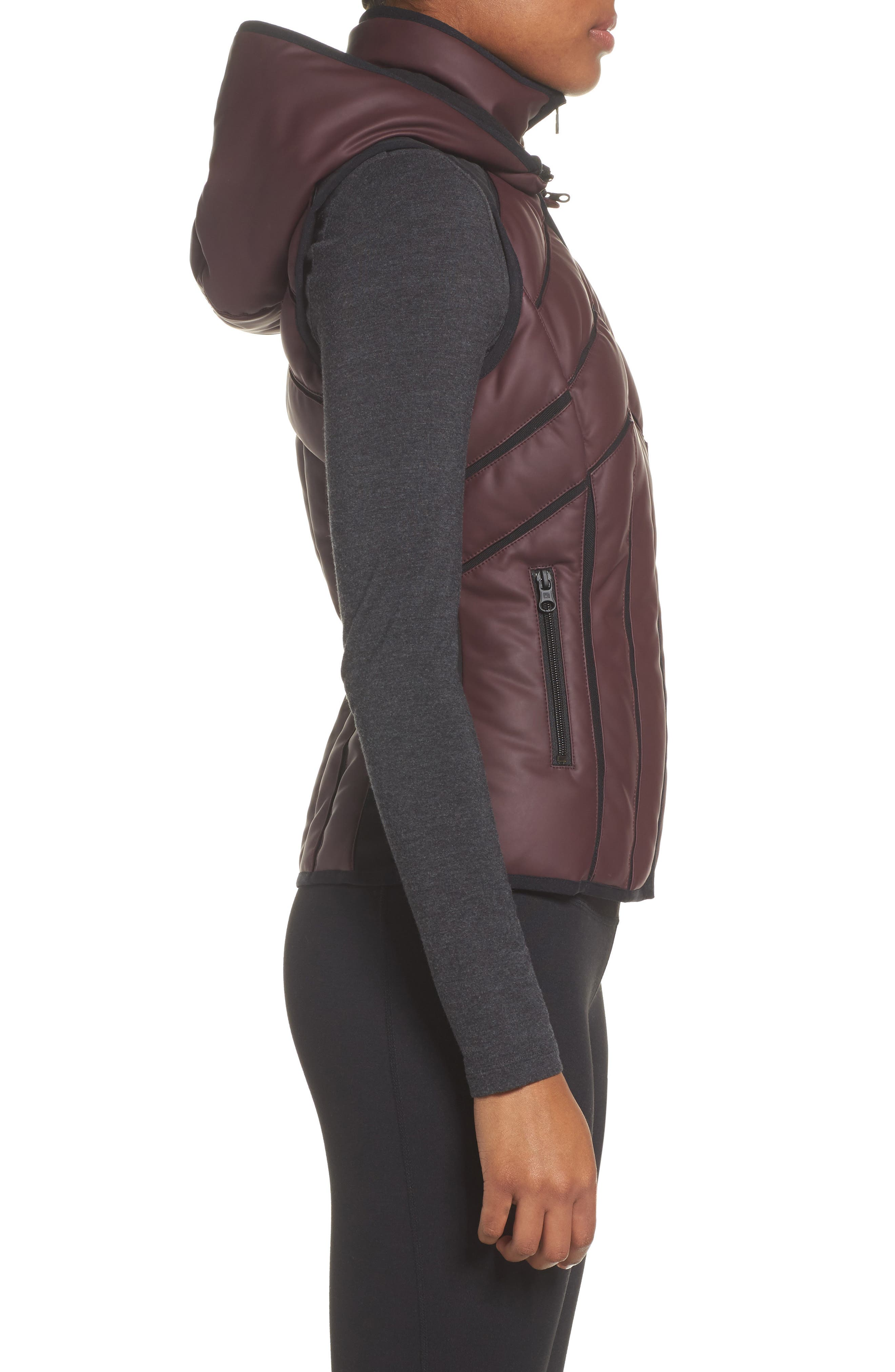 Aura Mesh Inset Vest,                             Alternate thumbnail 4, color,                             Nightshade