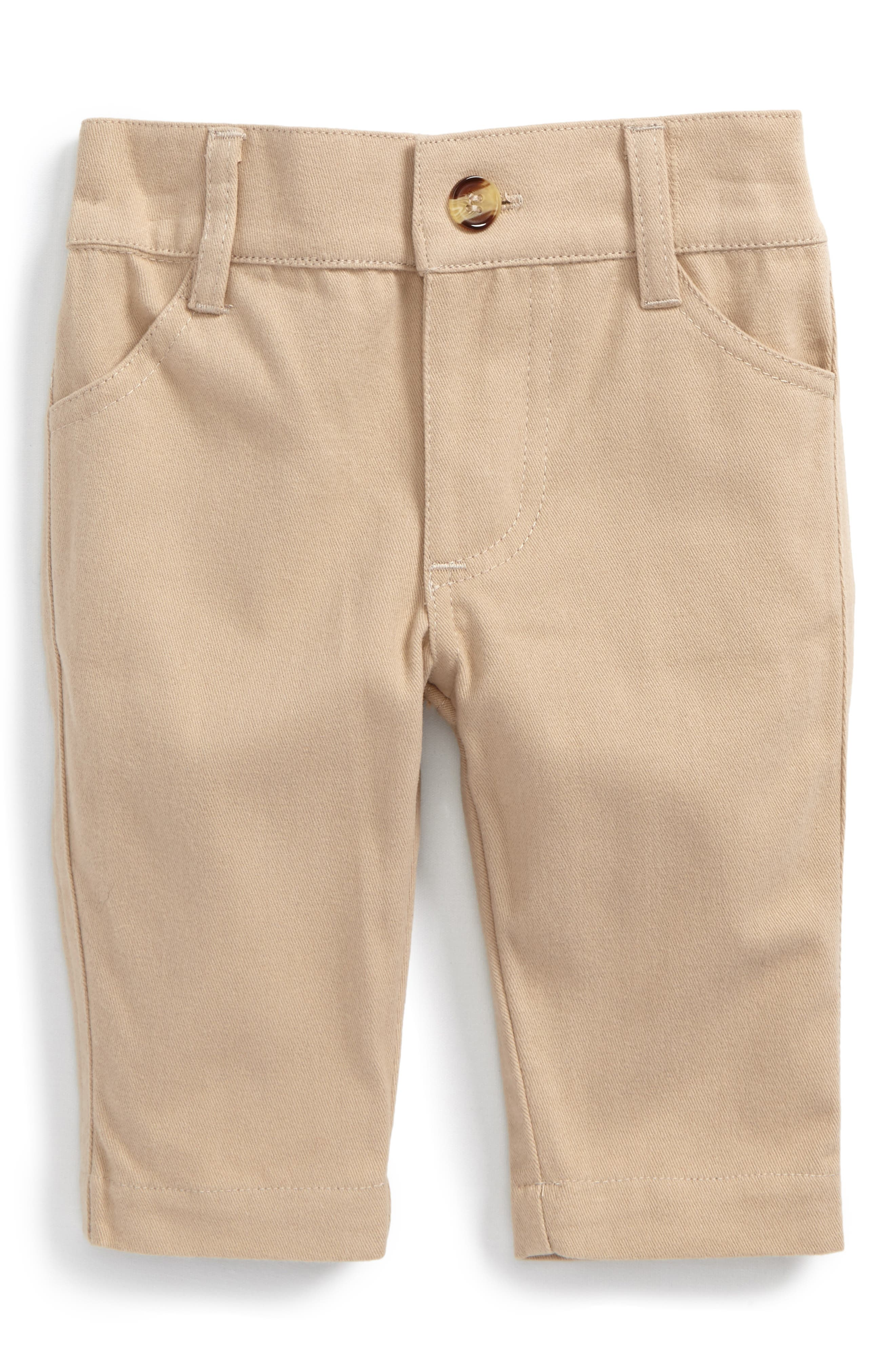 Stretch Cotton Twill Pants,                             Main thumbnail 1, color,                             Beige/ Khaki