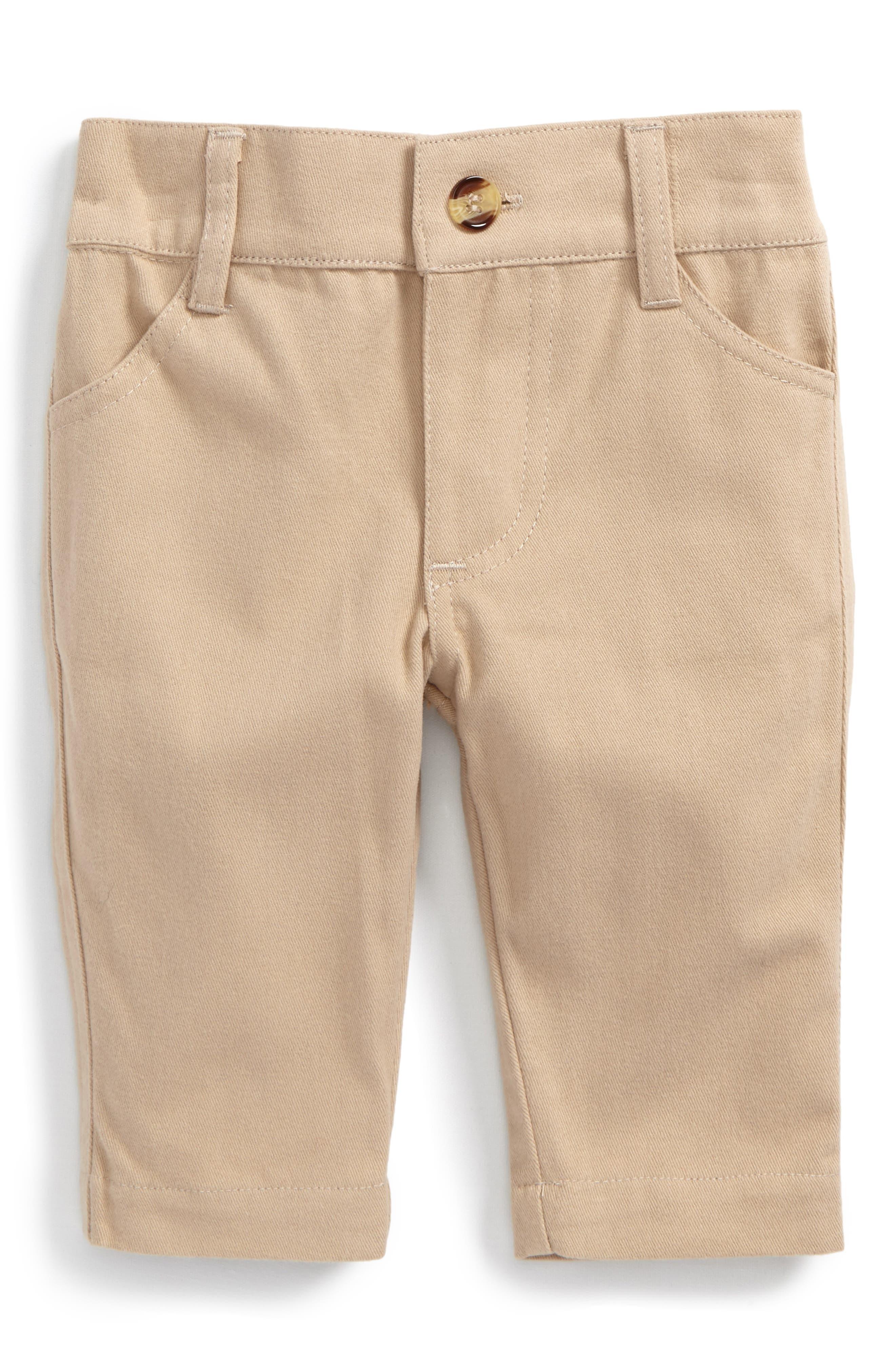 Stretch Cotton Twill Pants,                         Main,                         color, Beige/ Khaki