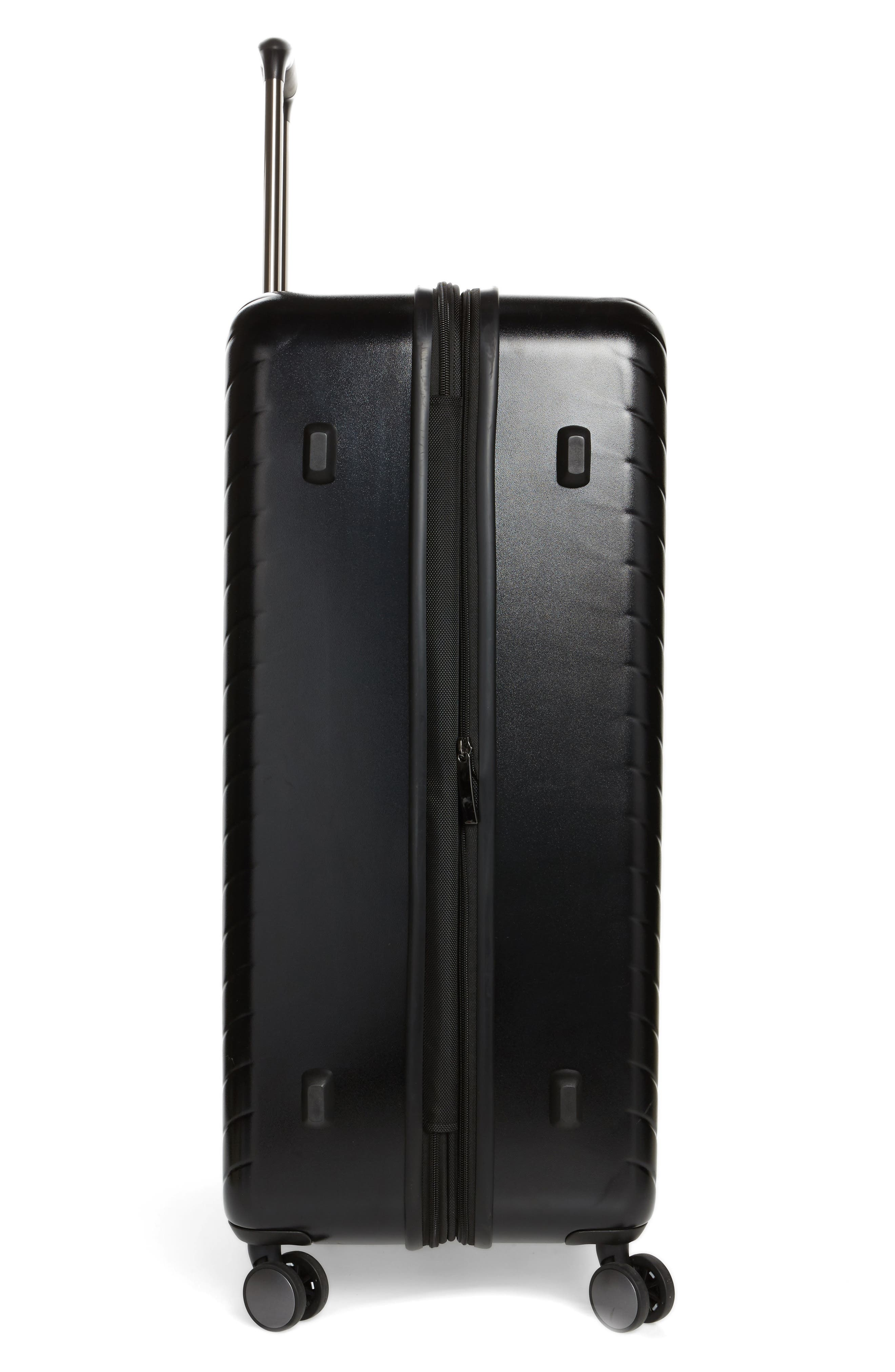 Chevron 29-Inch Spinner Suitcase,                             Alternate thumbnail 3, color,                             Black