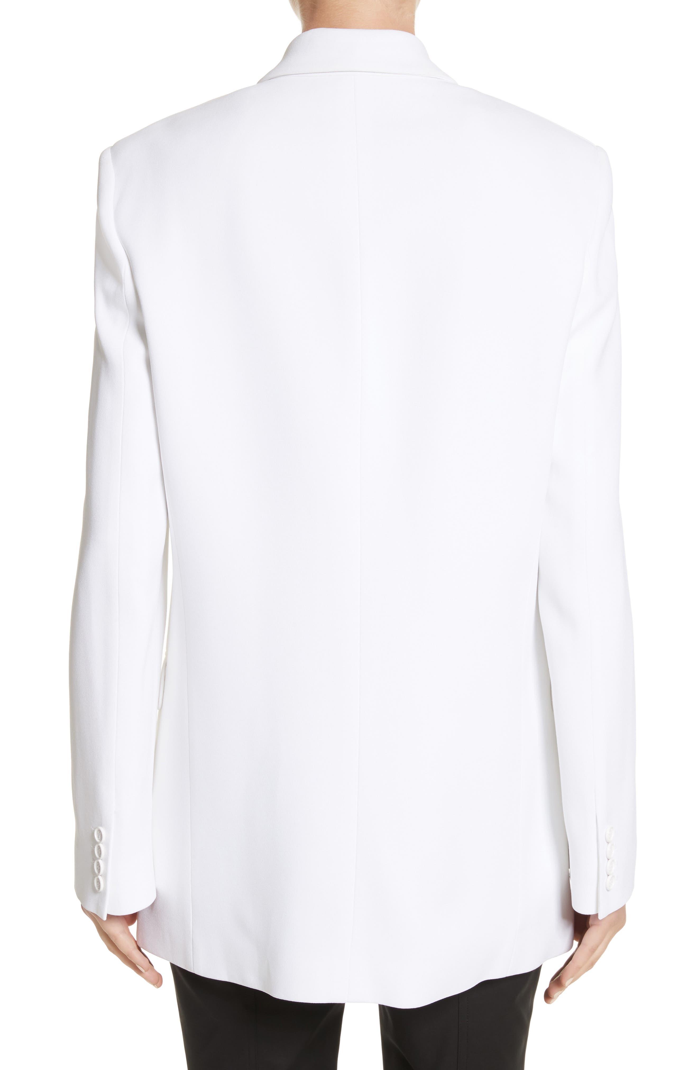 Double Crepe Sable Jacket,                             Alternate thumbnail 2, color,                             Optic White