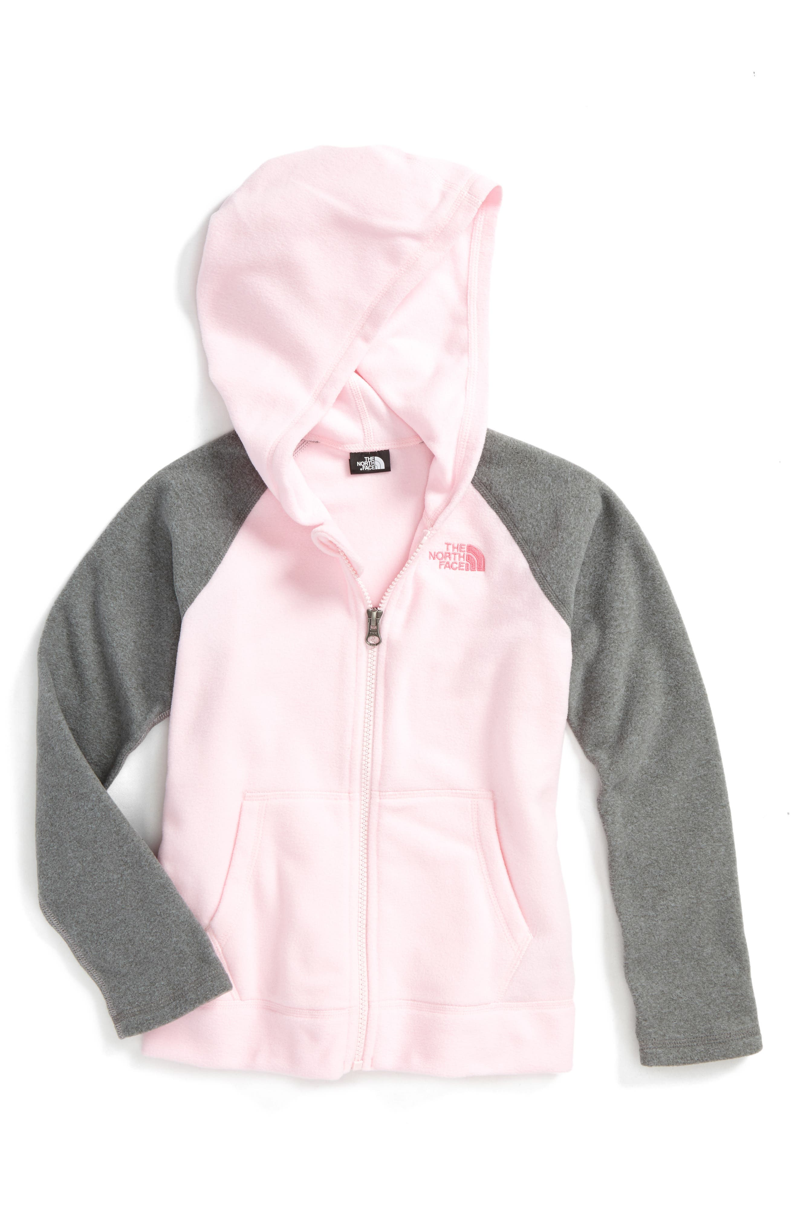 Alternate Image 1 Selected - The North Face Glacier Full Zip Hoodie (Toddler Girls & Little Girls)