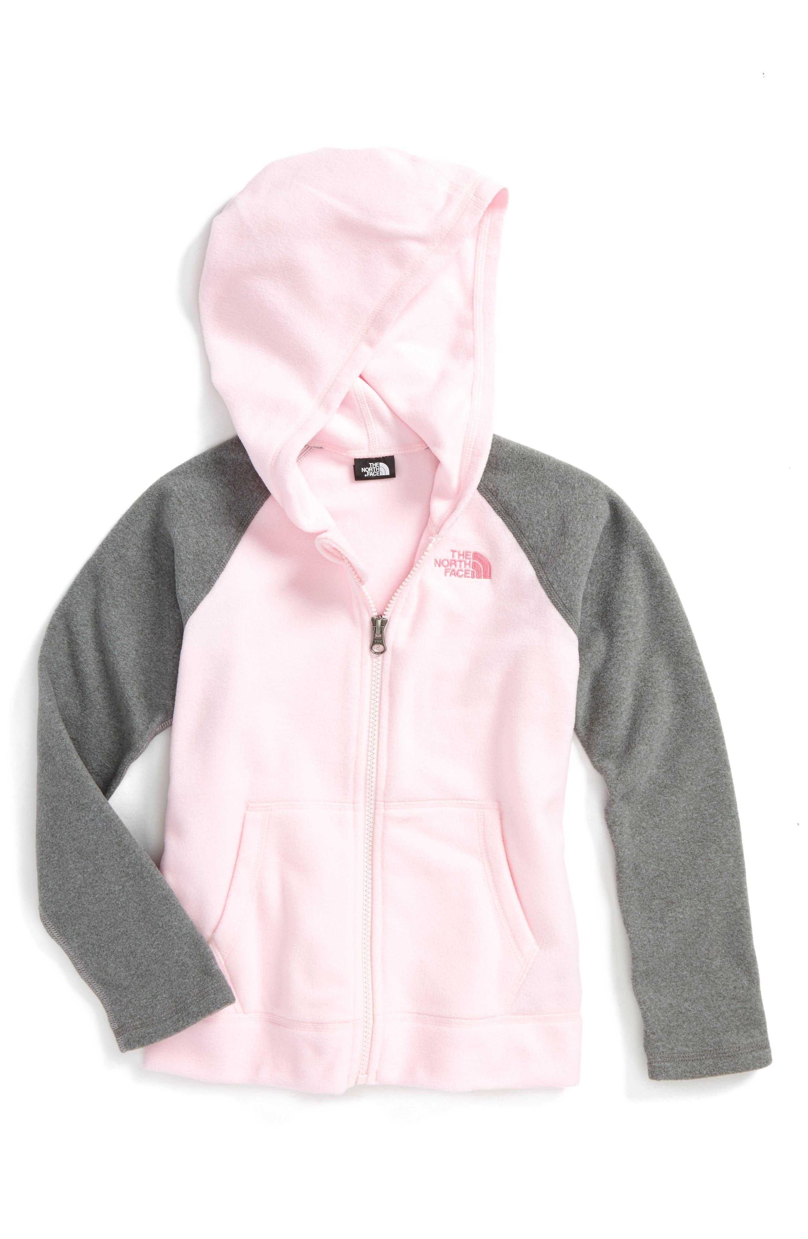 Glacier Full Zip Hoodie,                         Main,                         color, Coy Pink
