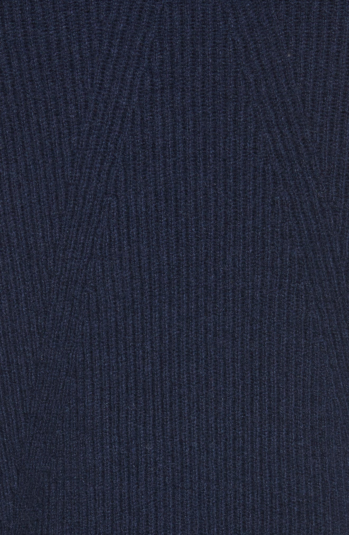 Ace Cashmere Crop Sweater,                             Alternate thumbnail 5, color,                             Navy