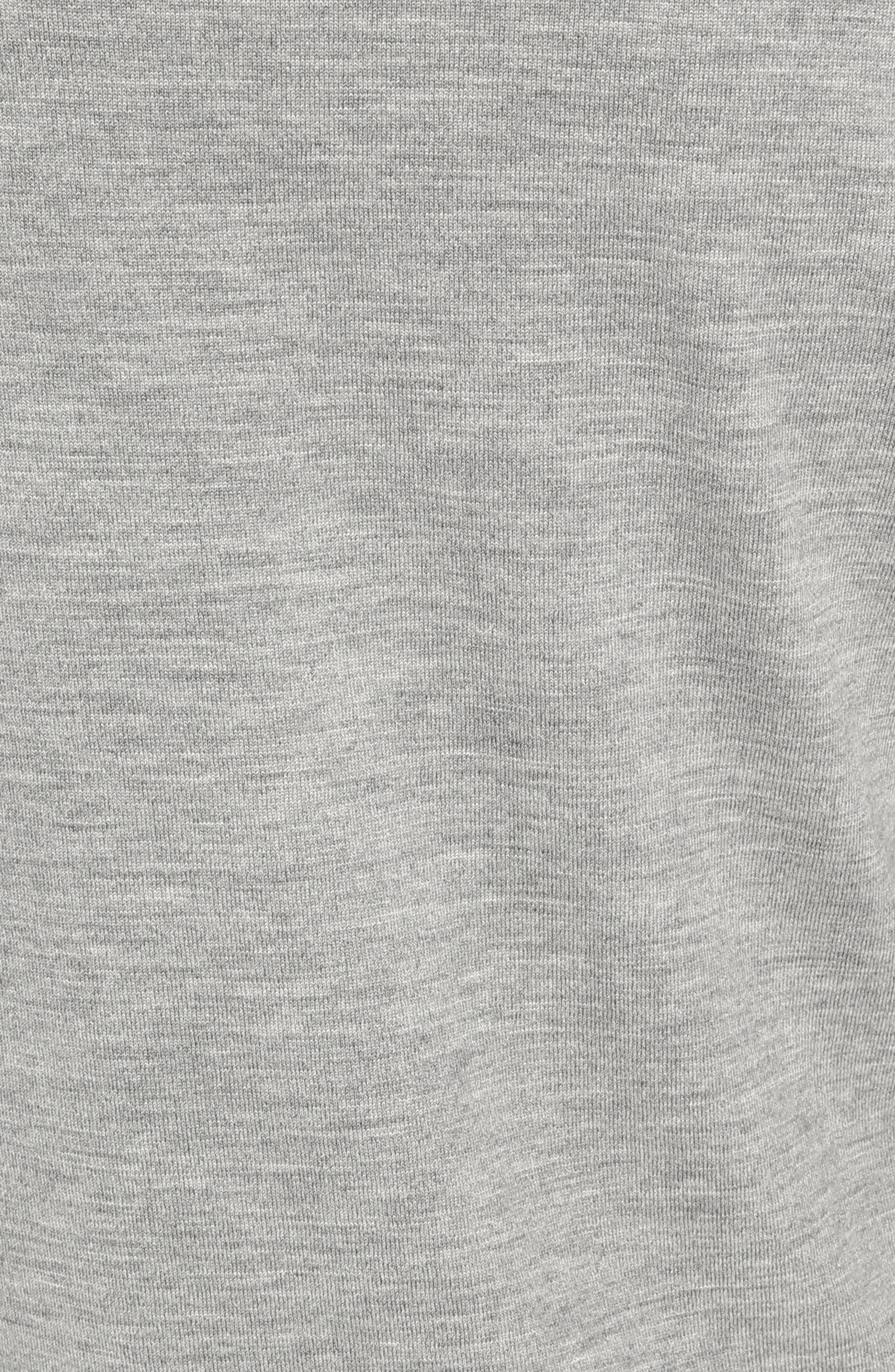 Button Shoulder Wool Sweater,                             Alternate thumbnail 5, color,                             Cozy Grey