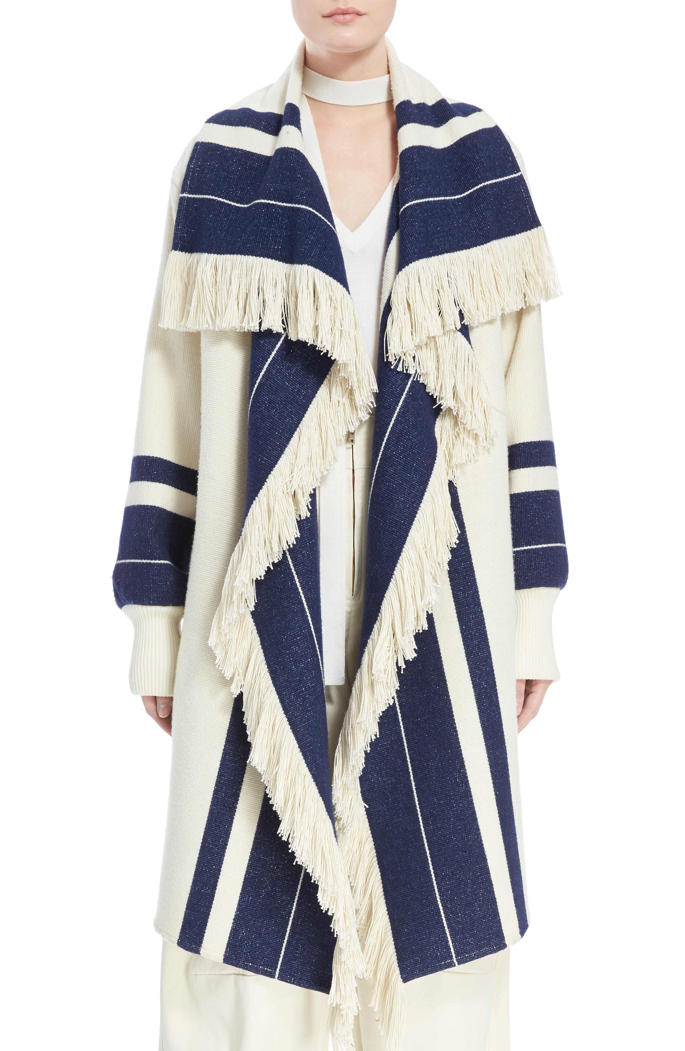 Main Image - Chloé Stripe Blanket Coat