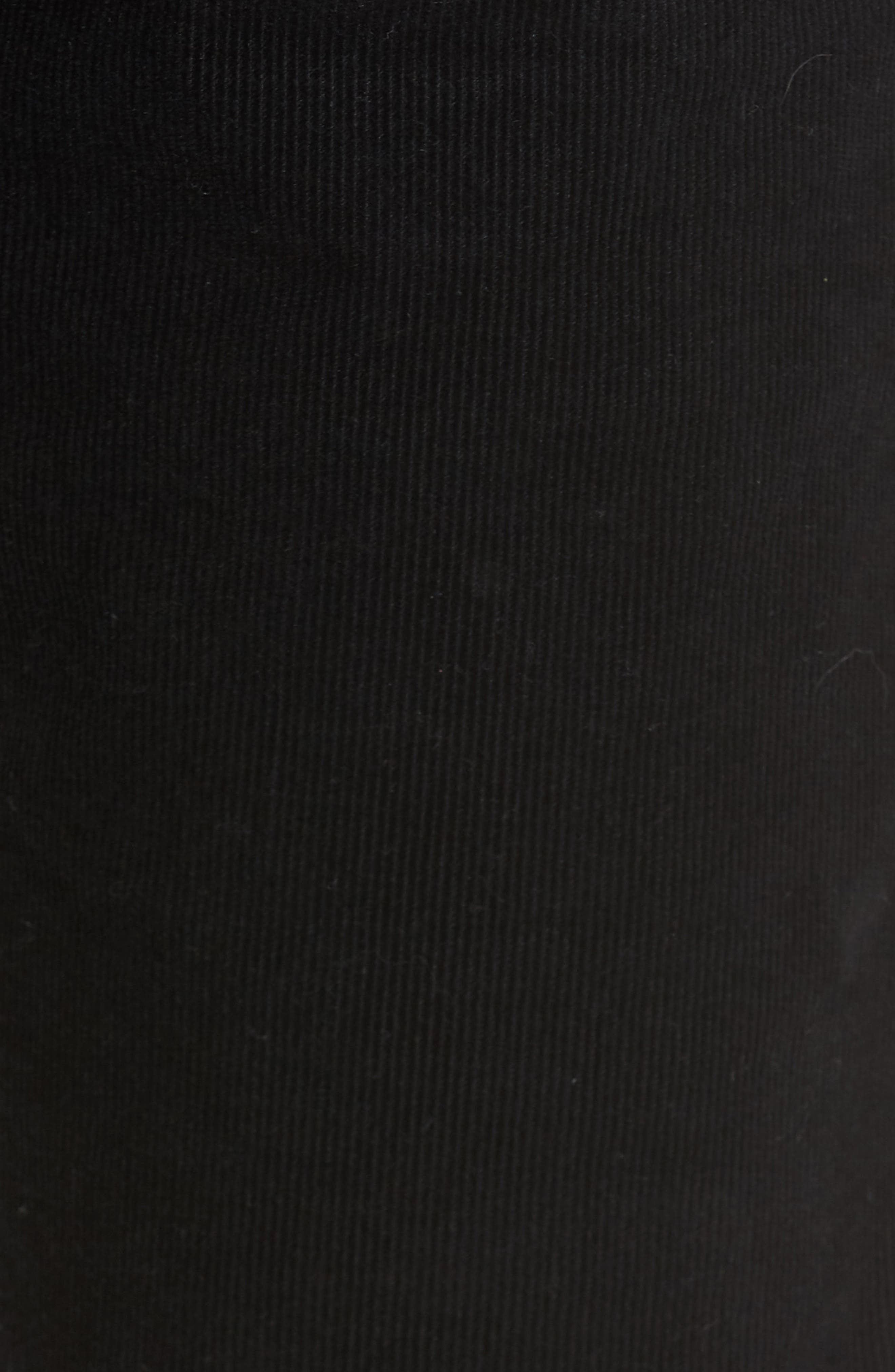 Dylan Skinny Fit Corduroy Pants,                             Alternate thumbnail 5, color,                             Sulfur True Black
