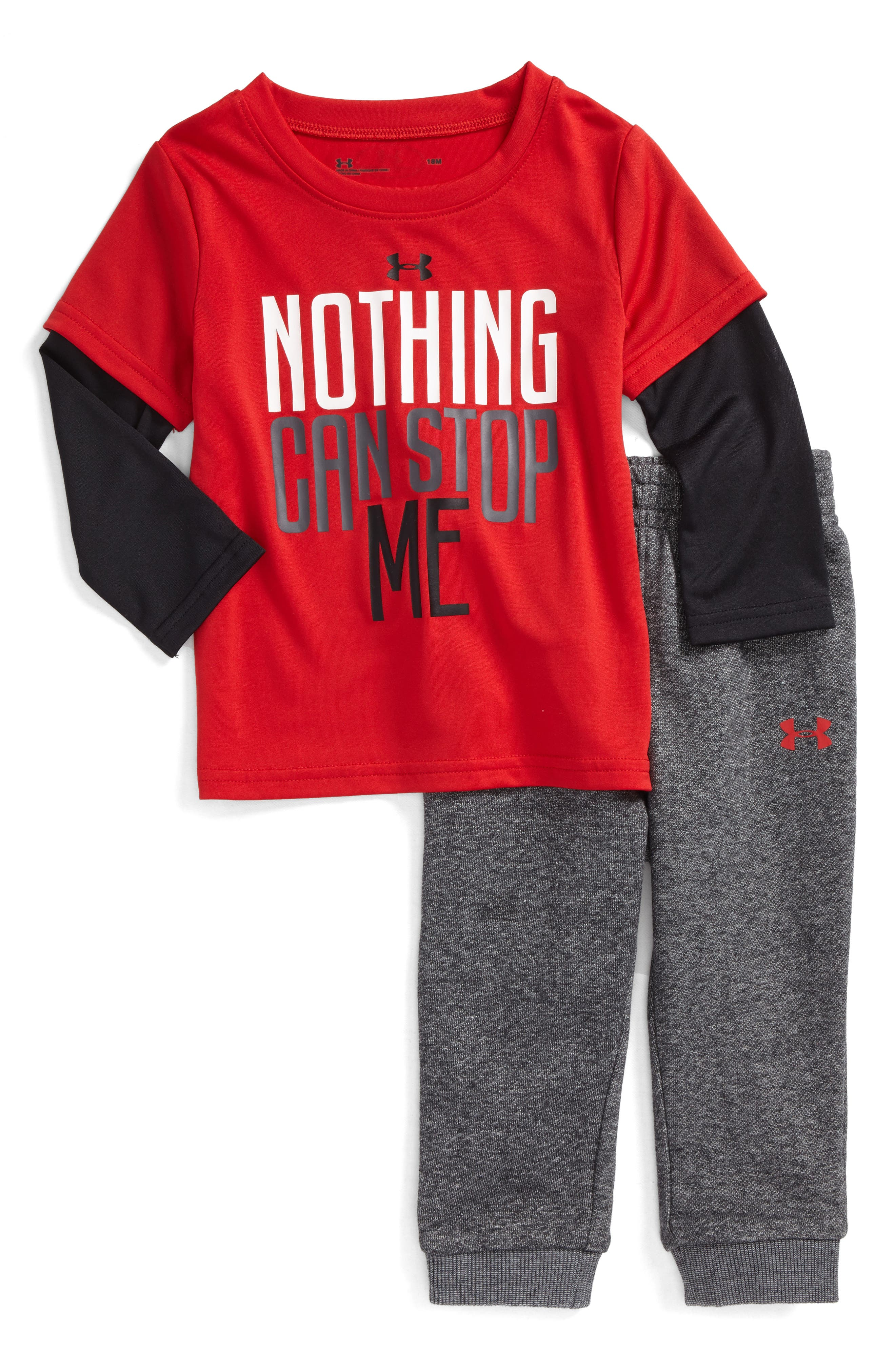 Under Armour Nothing Can Stop Me Layered T-Shirt & Sweatpants (Baby Boys)