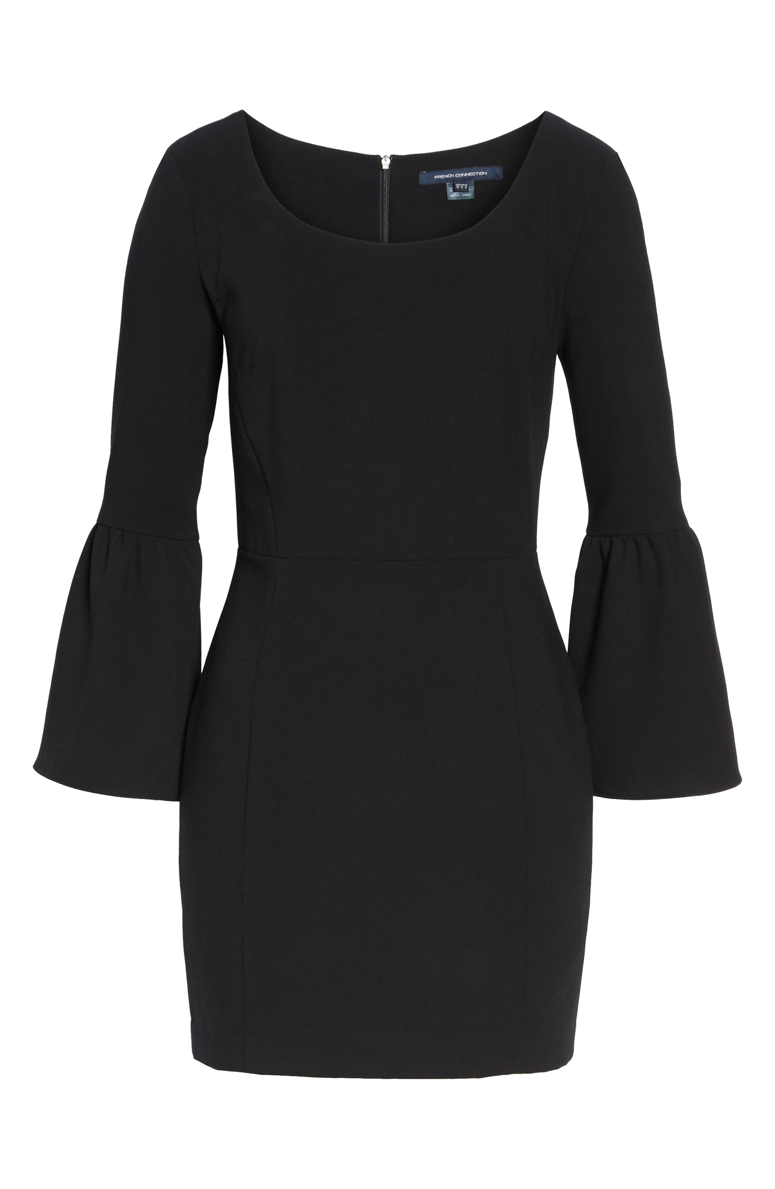 Alternate Image 6  - French Connection Whisper Ruth Bell Sleeve Sheath Dress
