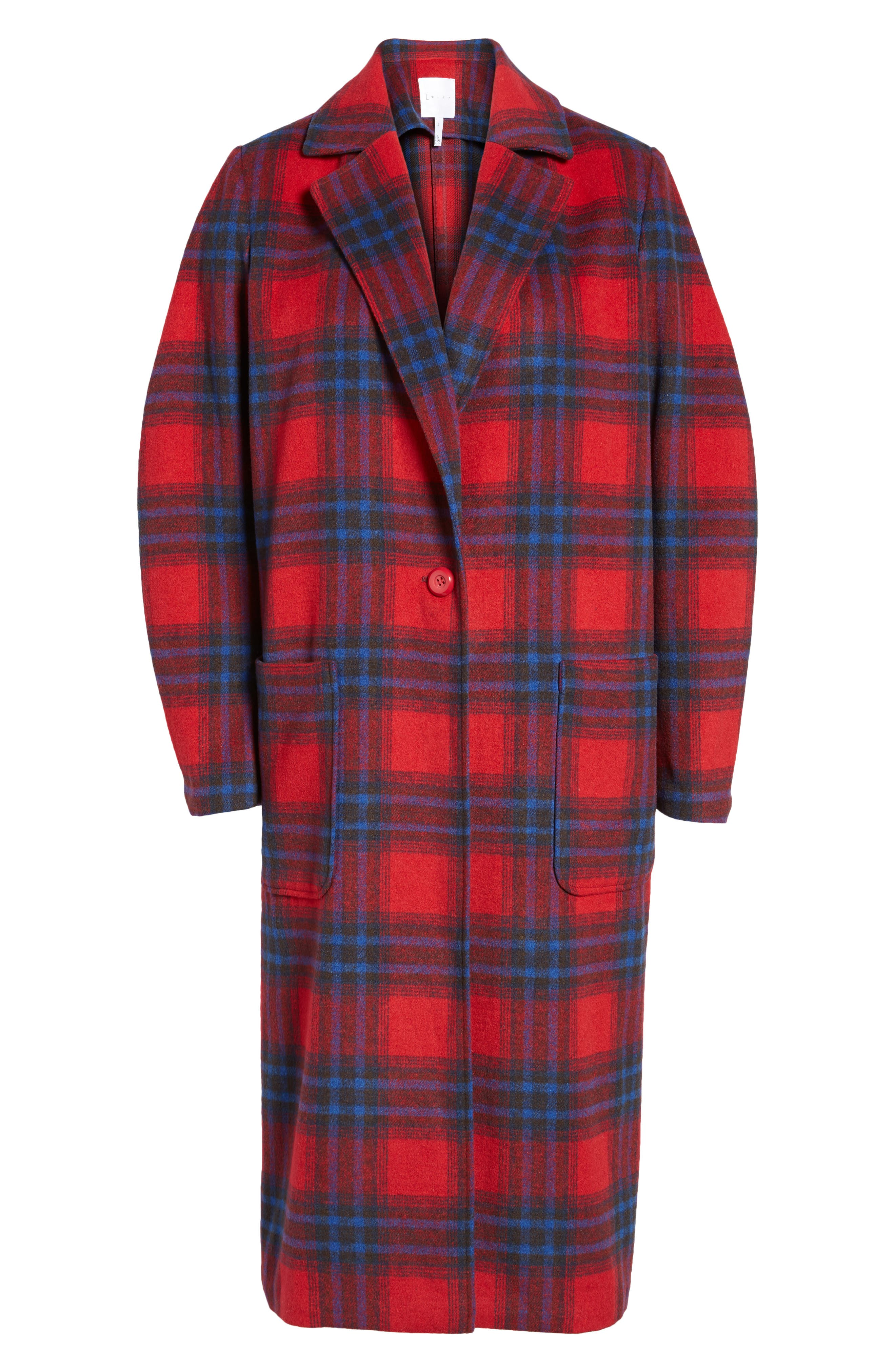 Alternate Image 7  - Leith Single Button Plaid Coat