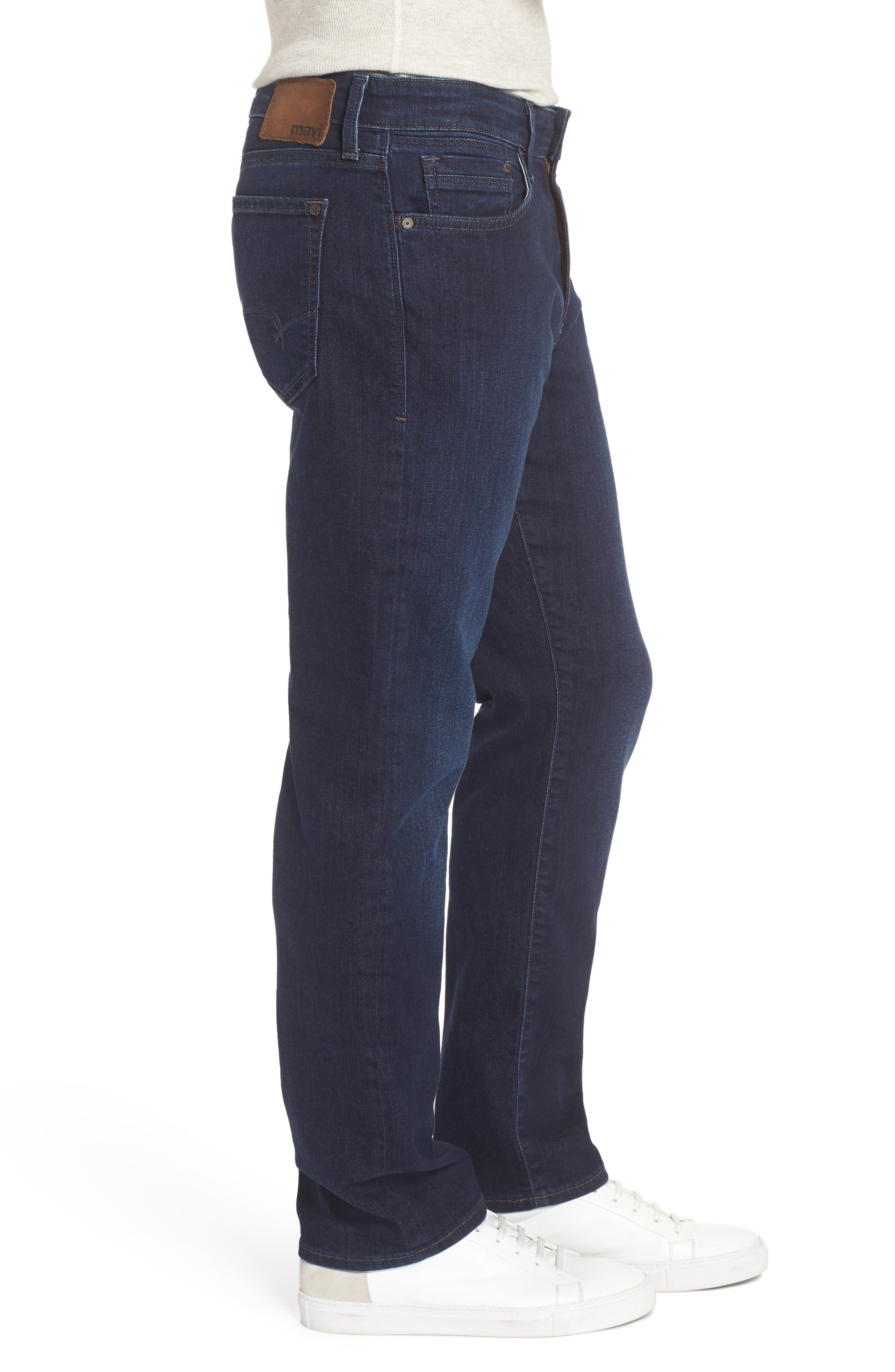 Myles Straight Fit Jeans,                             Alternate thumbnail 3, color,                             Deep Clean Comfort