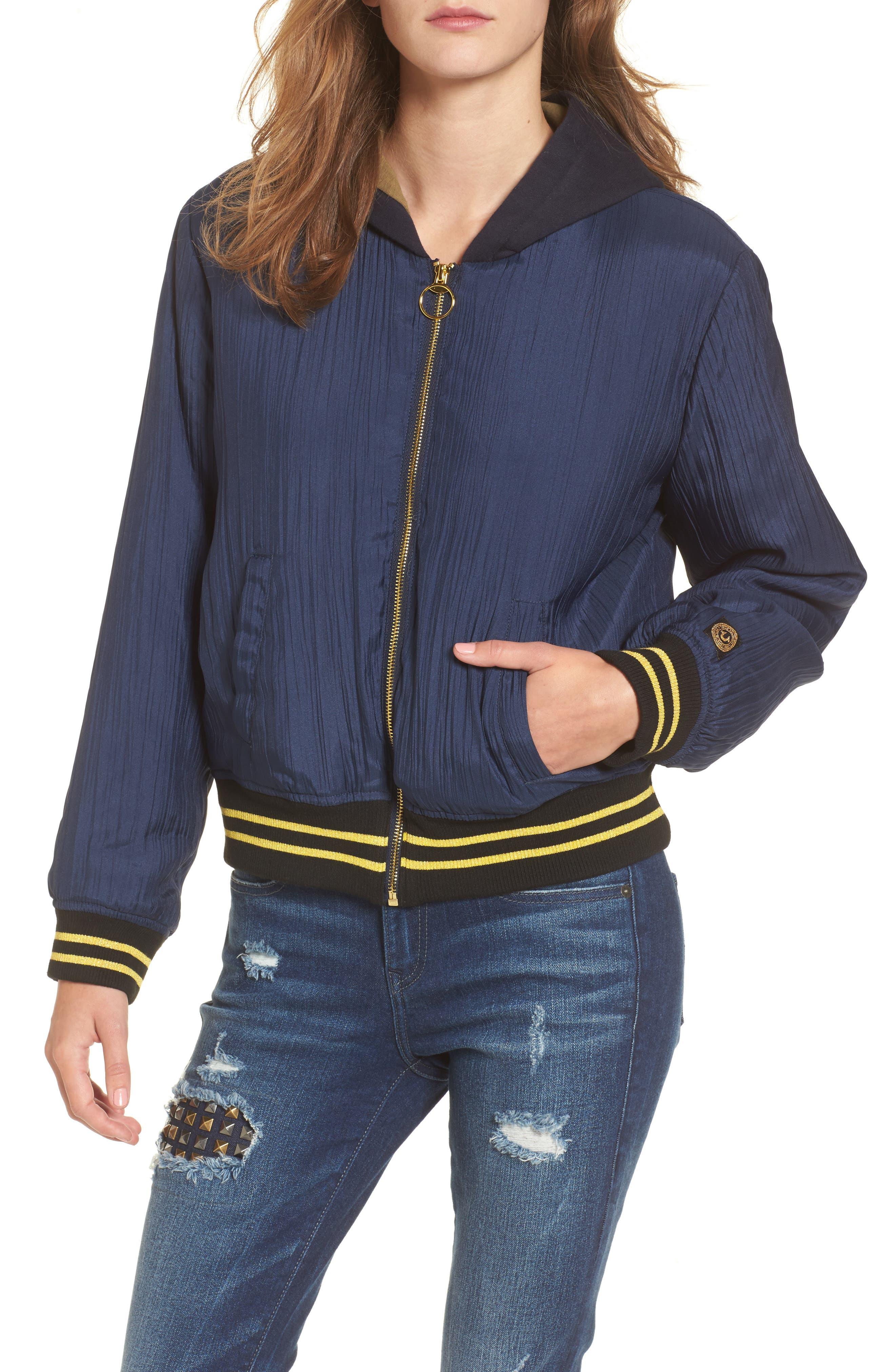 Bomber Jacket,                             Main thumbnail 1, color,                             Insignia Blue