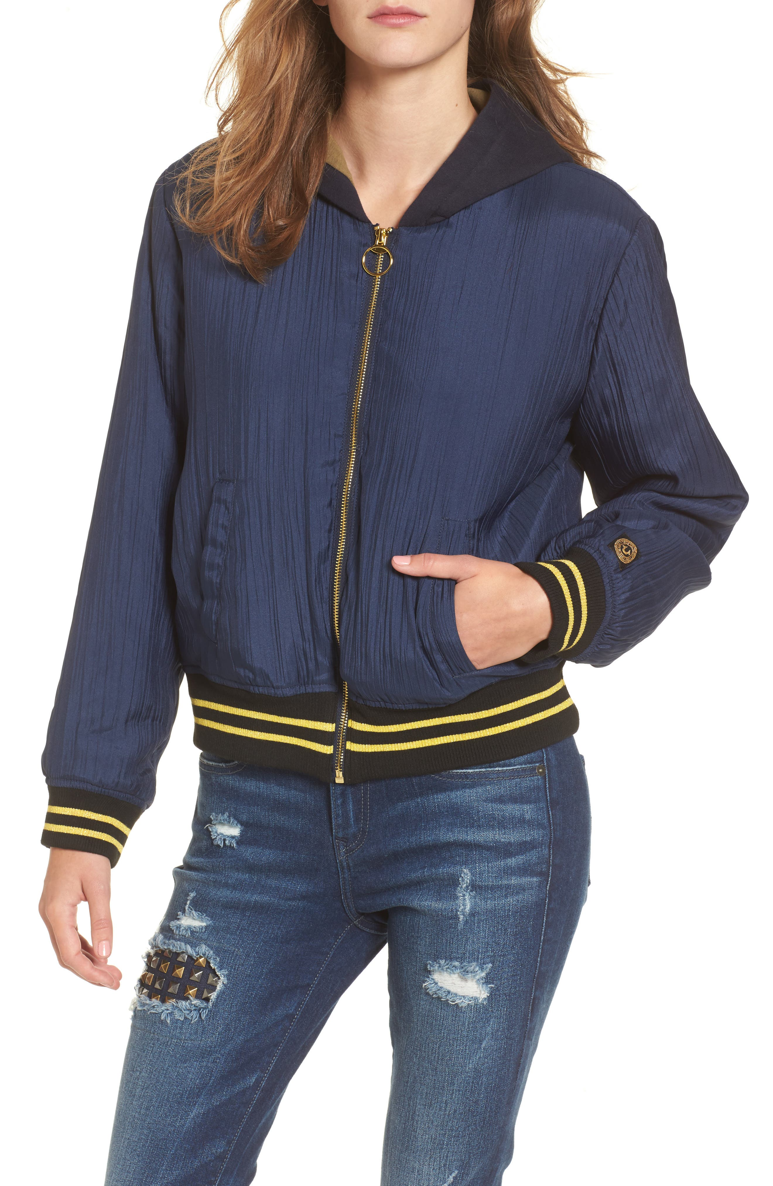Bomber Jacket,                         Main,                         color, Insignia Blue