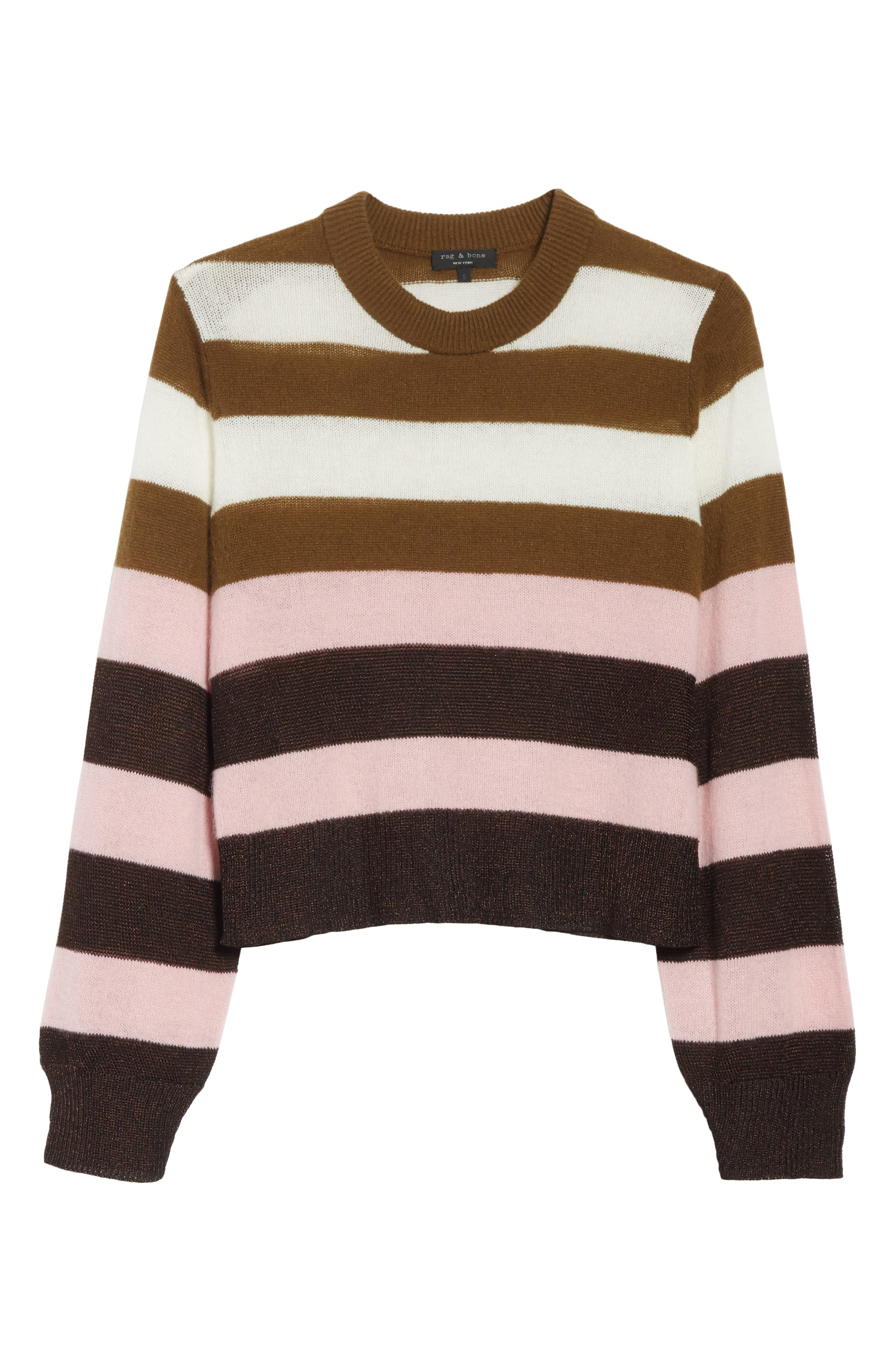 Annika Stripe Sweater,                             Alternate thumbnail 5, color,                             Pink Multi