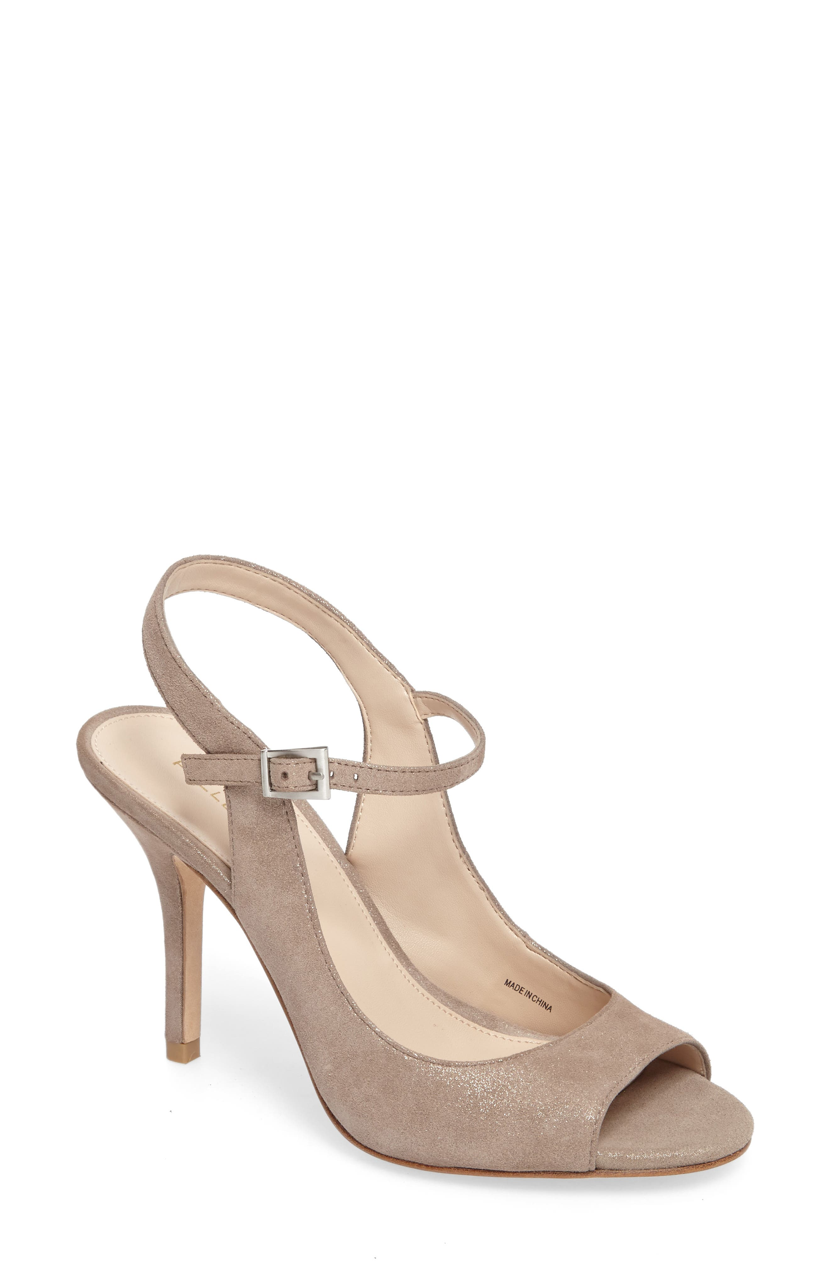Kinsey Sandal,                             Main thumbnail 1, color,                             Taupe Leather