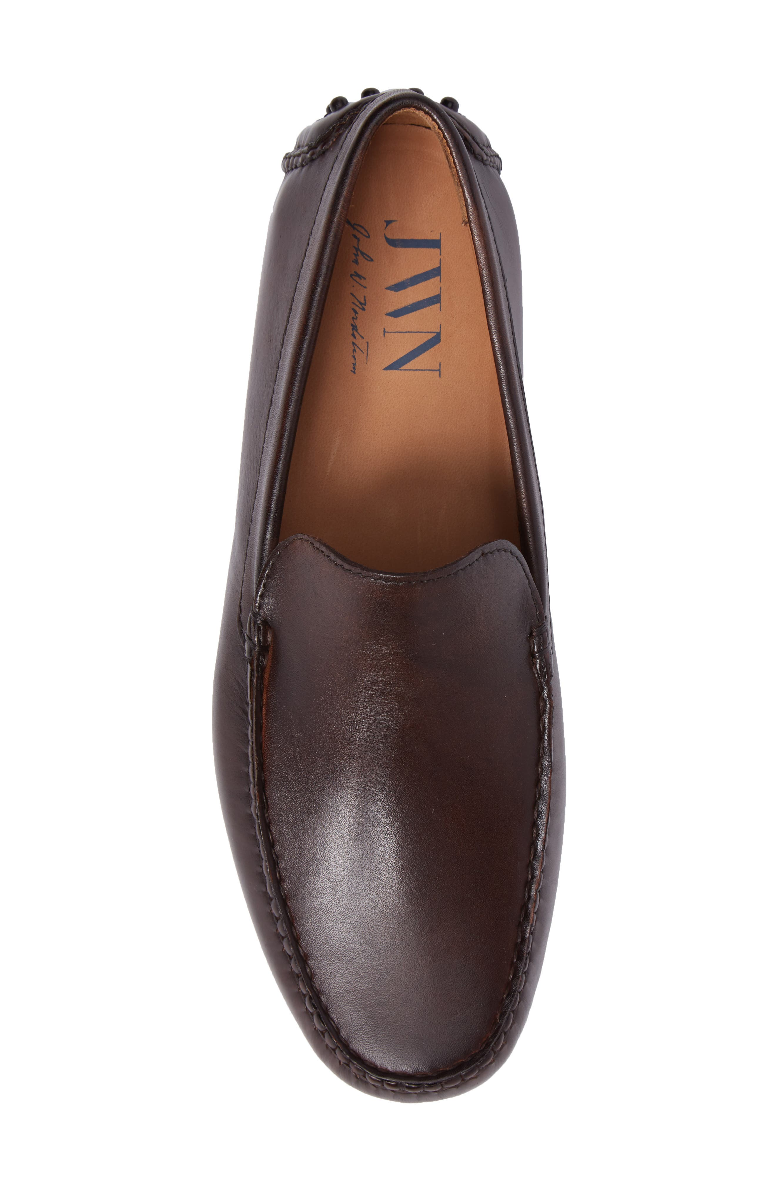 Cane Driving Shoe,                             Alternate thumbnail 5, color,                             Brown Leather