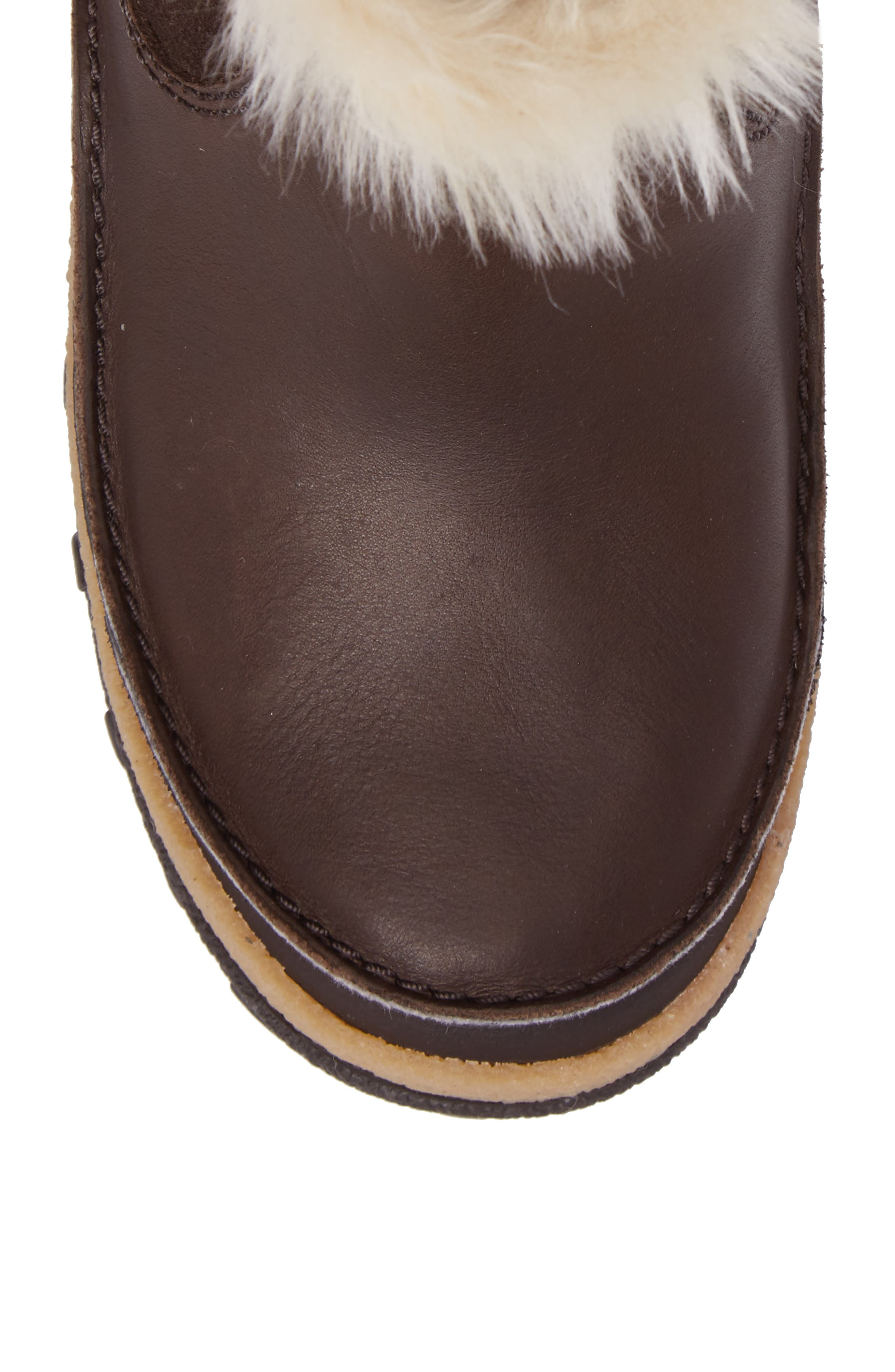 Tremblant Pull-On Polar Waterproof Bootie,                             Alternate thumbnail 5, color,                             Espresso Leather