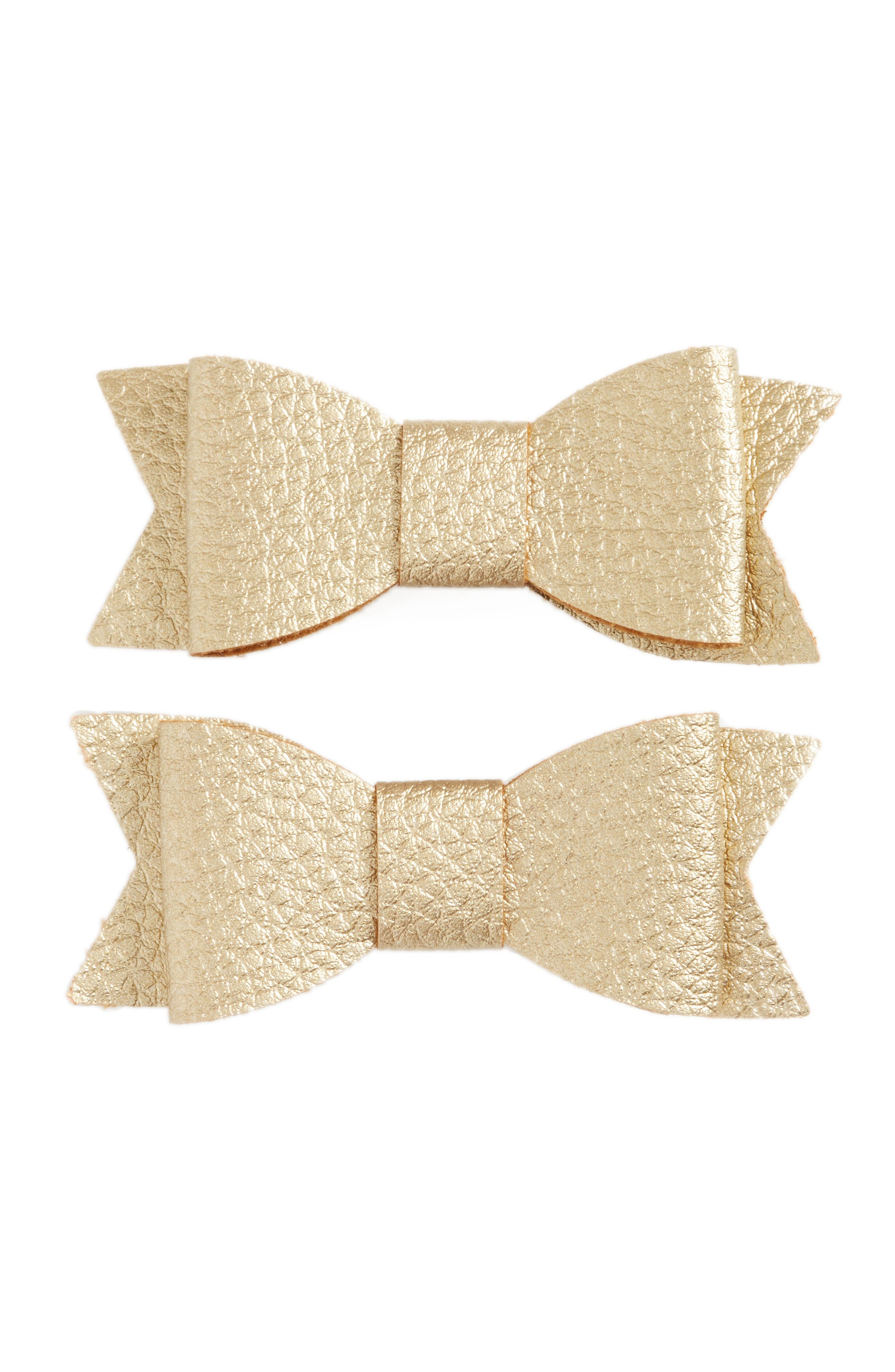 Alternate Image 1 Selected - Baby Bling 2-Pack Bow Clips (Baby Girls)
