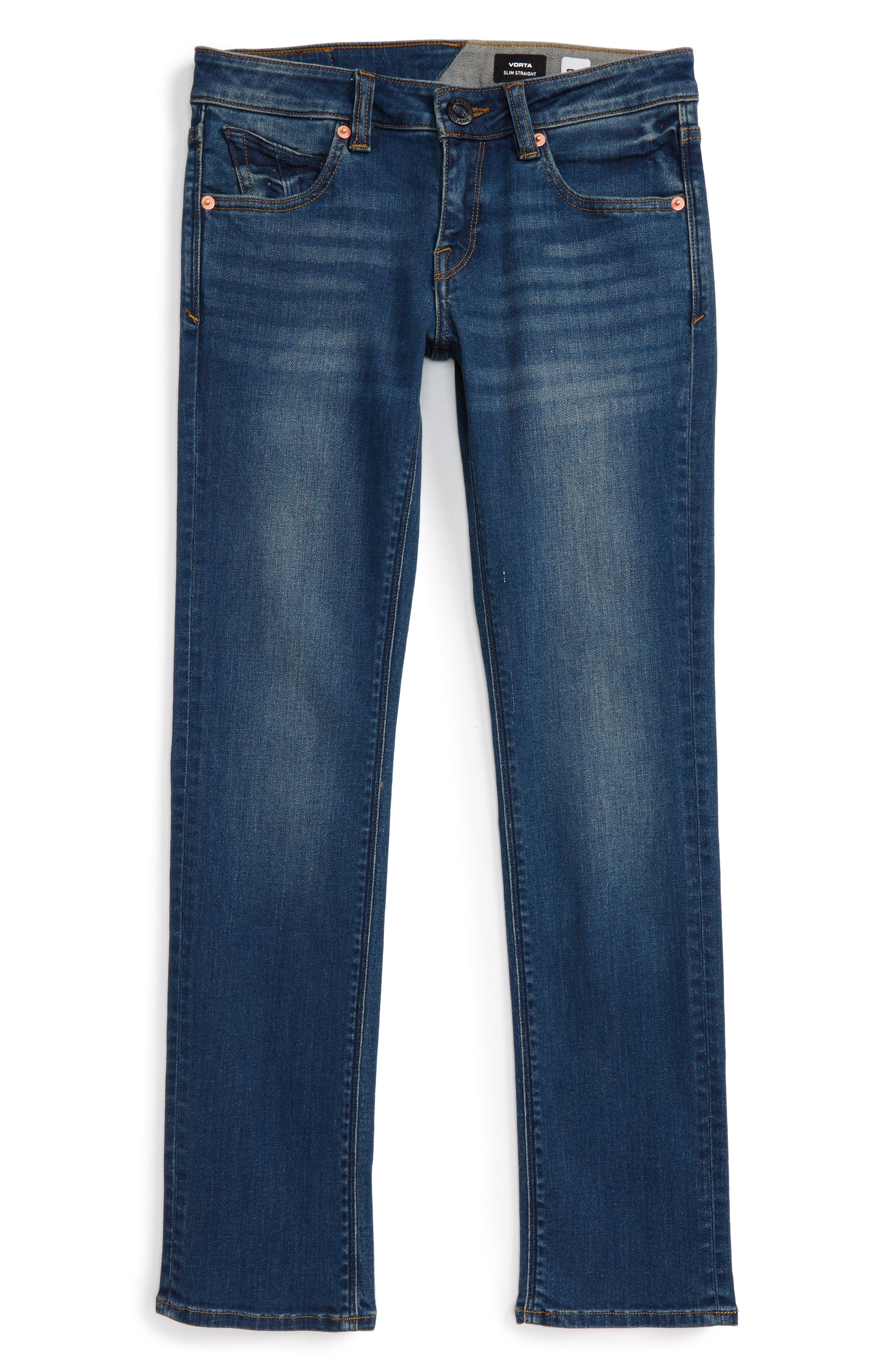 Main Image - Volcom Vorta Slim Fit Jeans (Big Boys)