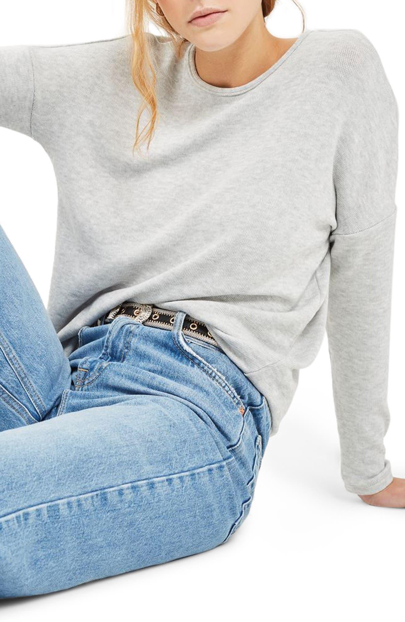 Topshop Tie Back Sweater
