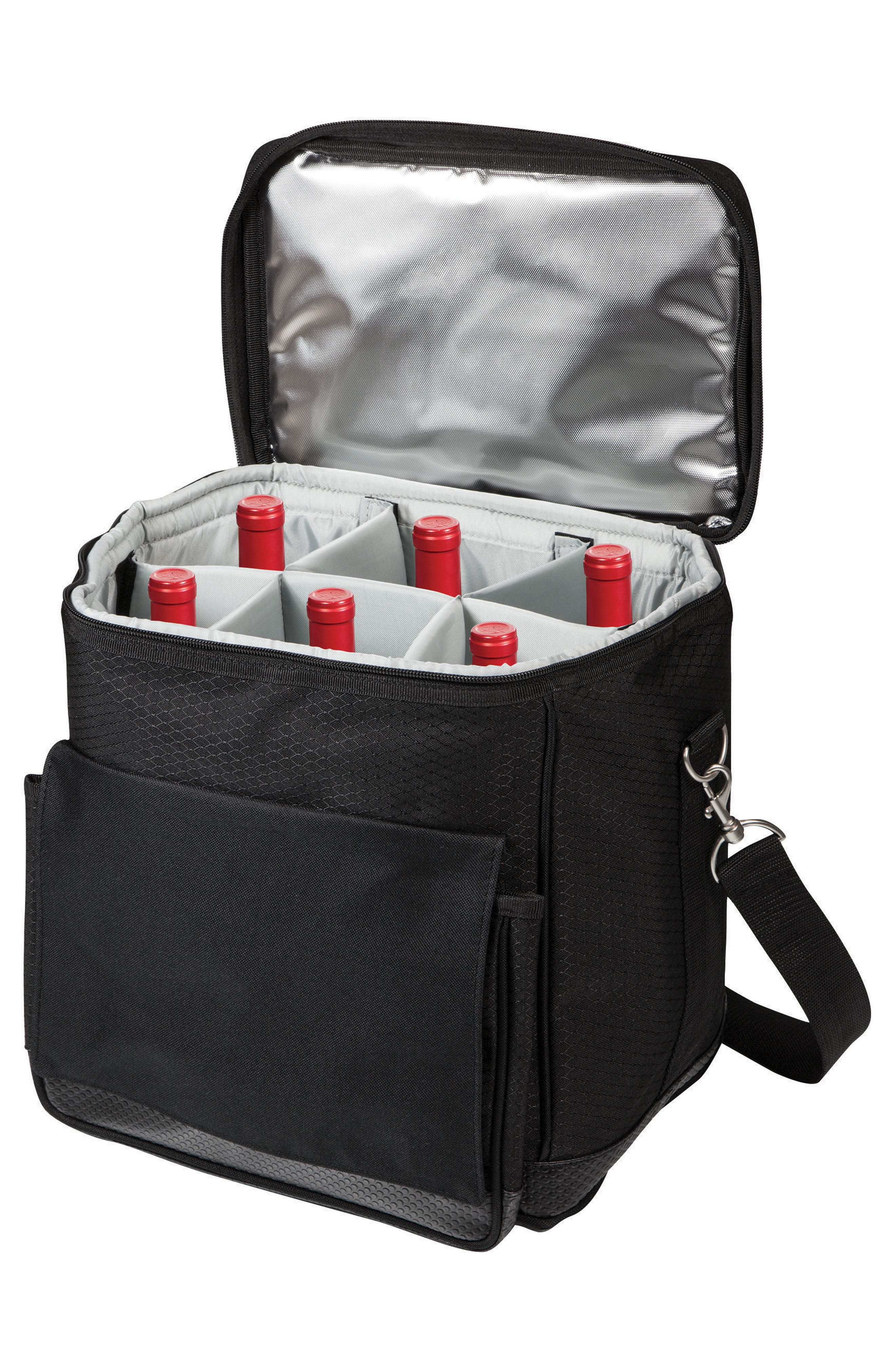 Alternate Image 3  - Picnic Time Cellar 6-Bottle Wine Cooler with Trolley