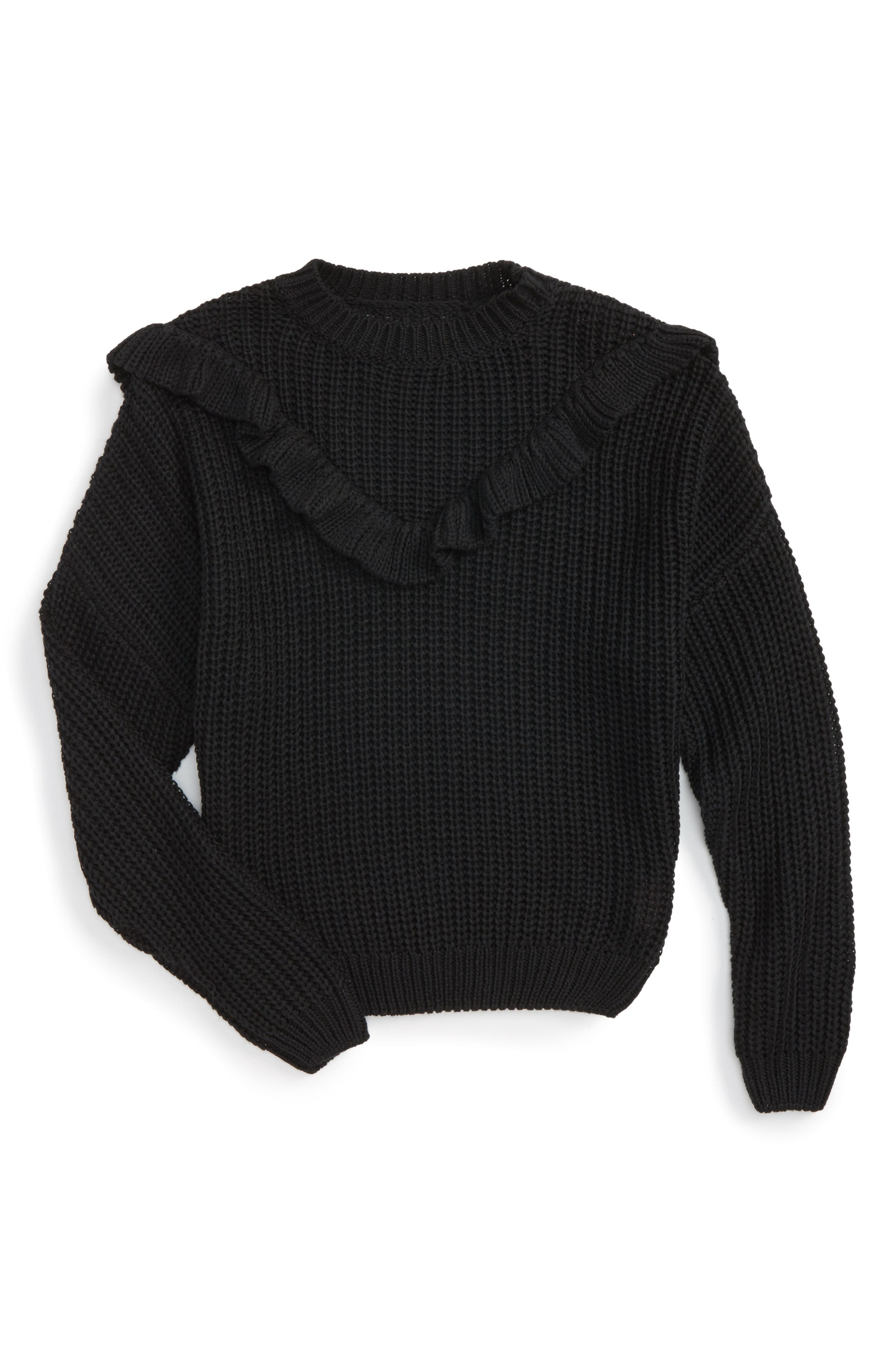 BLANCNYC Ruffle Sweater (Big Girls)