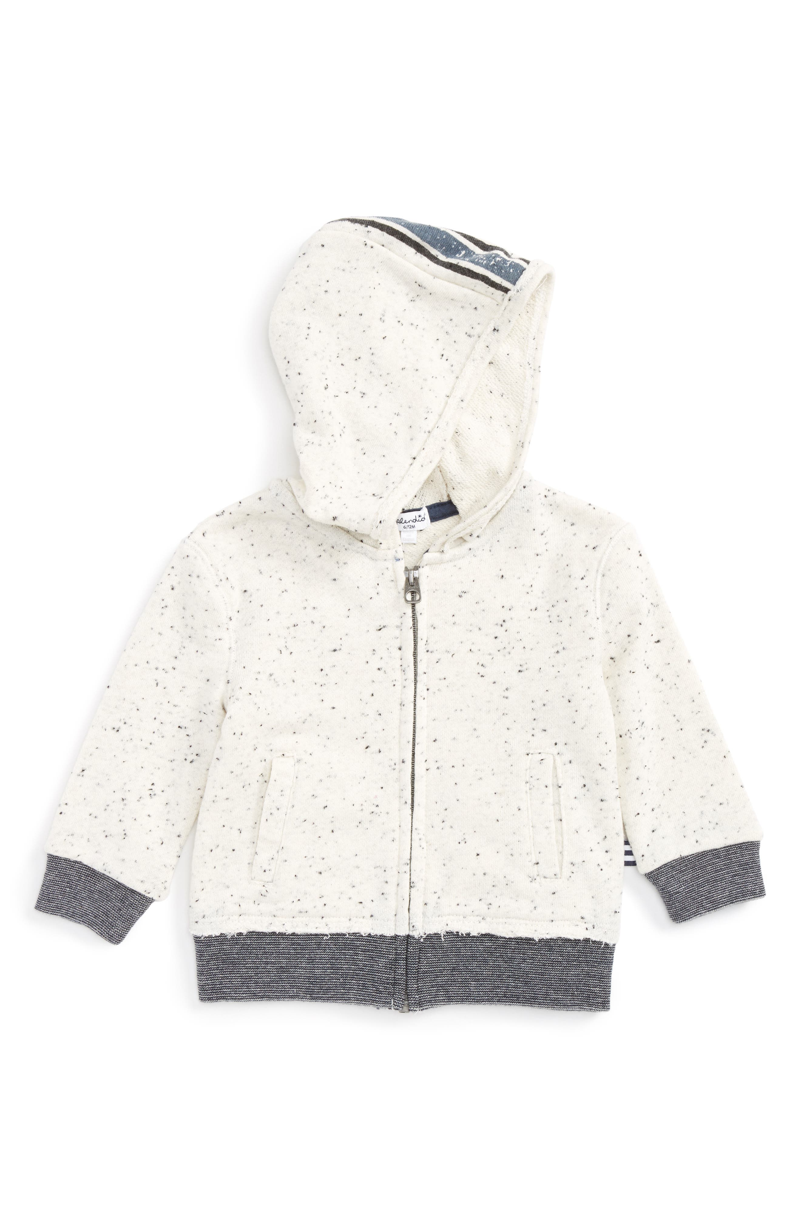 Speckle French Terry Hoodie,                             Main thumbnail 1, color,                             Off White S102