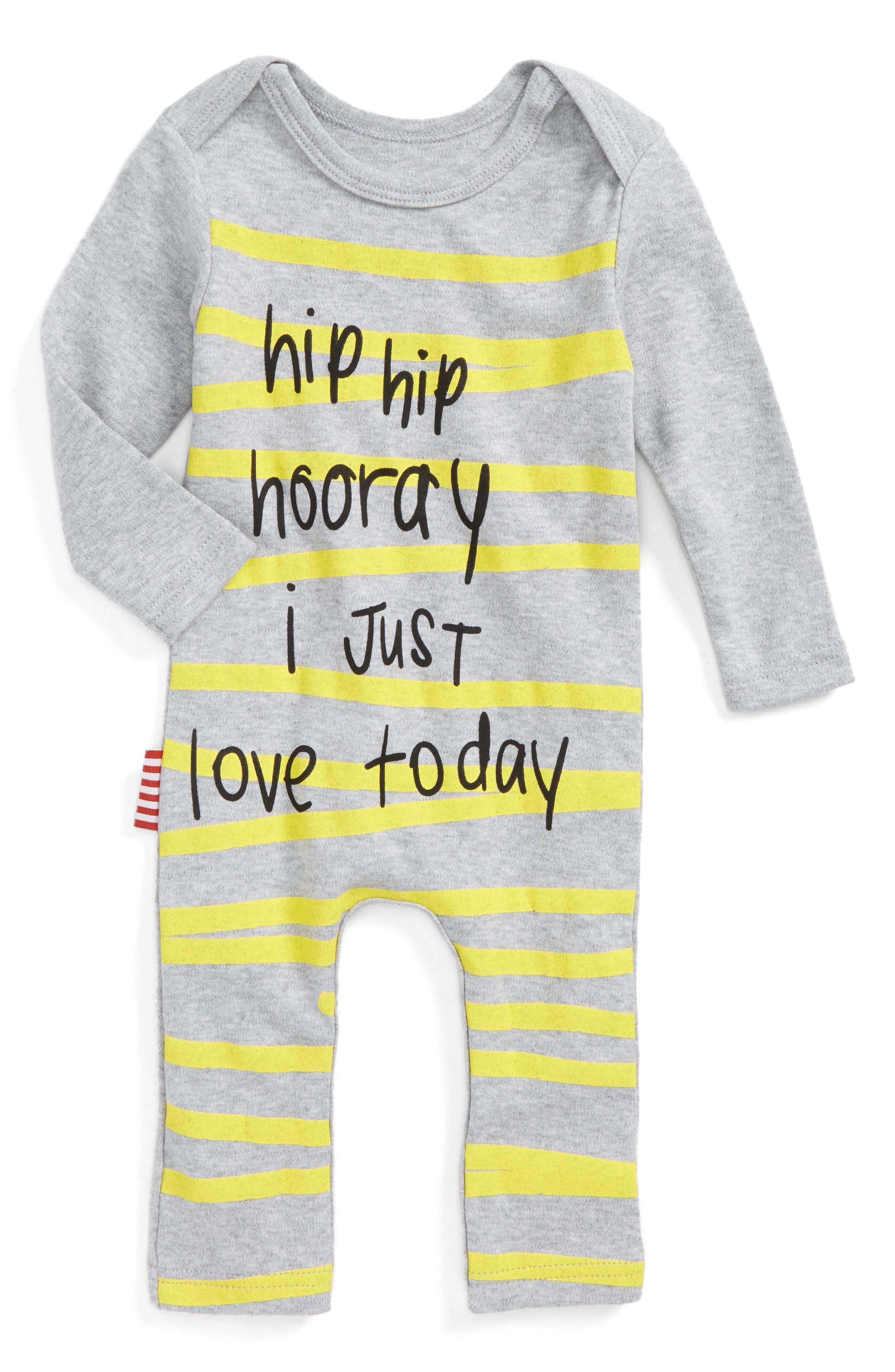Main Image - SOOKIbaby Hip Hip Hooray Romper (Baby)