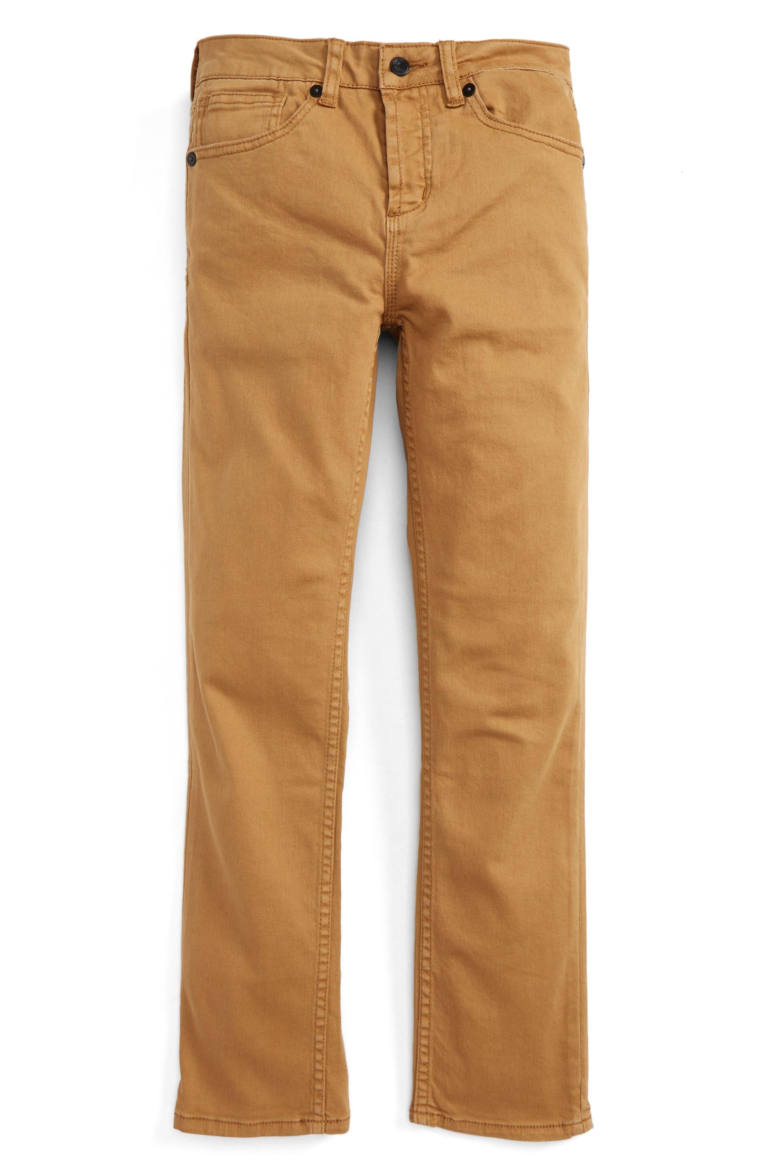 The Slim Twill Pants,                         Main,                         color, Mocha