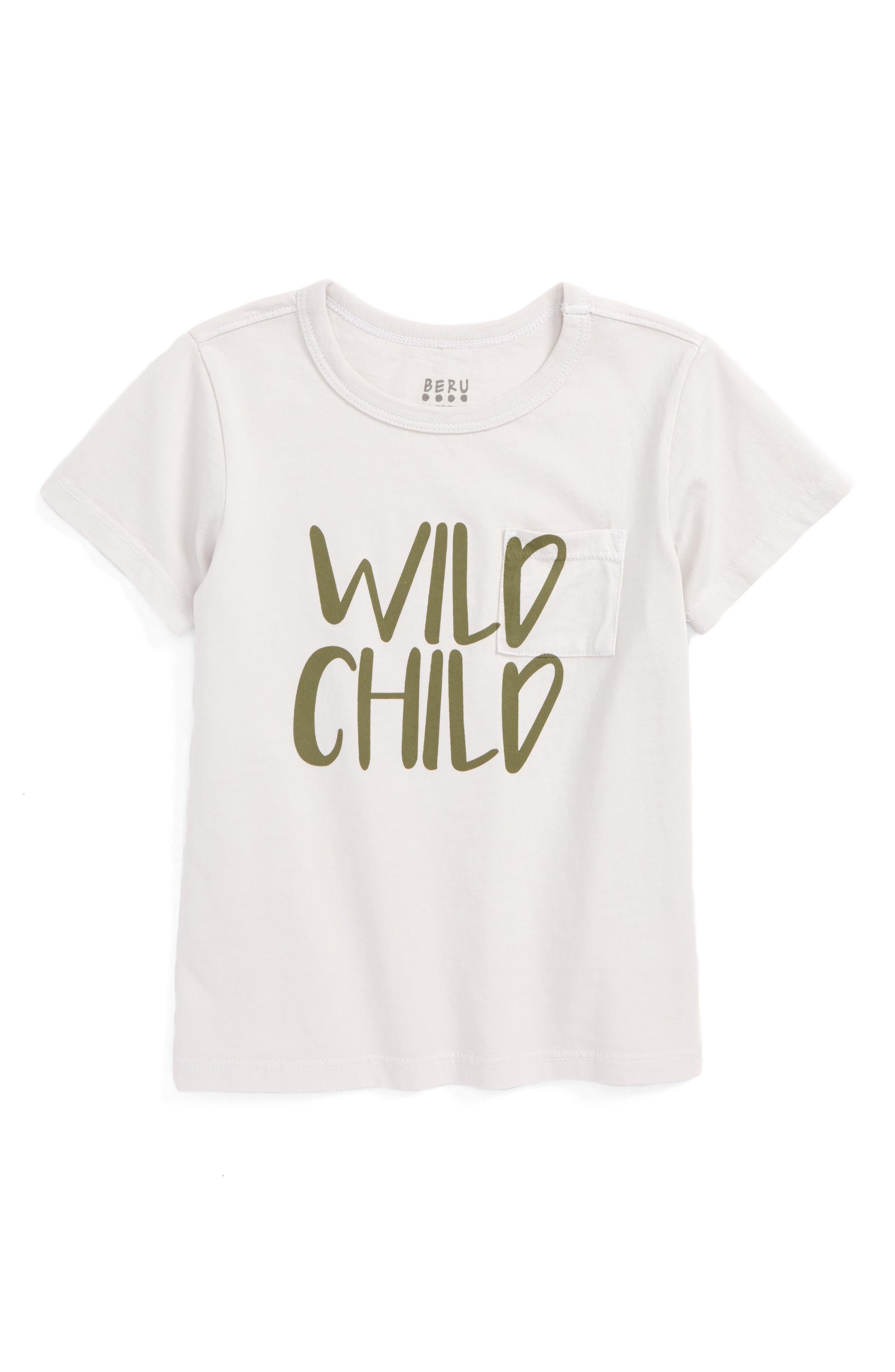 Main Image - BERU Huxley - Wild Child Organic Cotton T-Shirt (Toddler Boys & Little Boys)