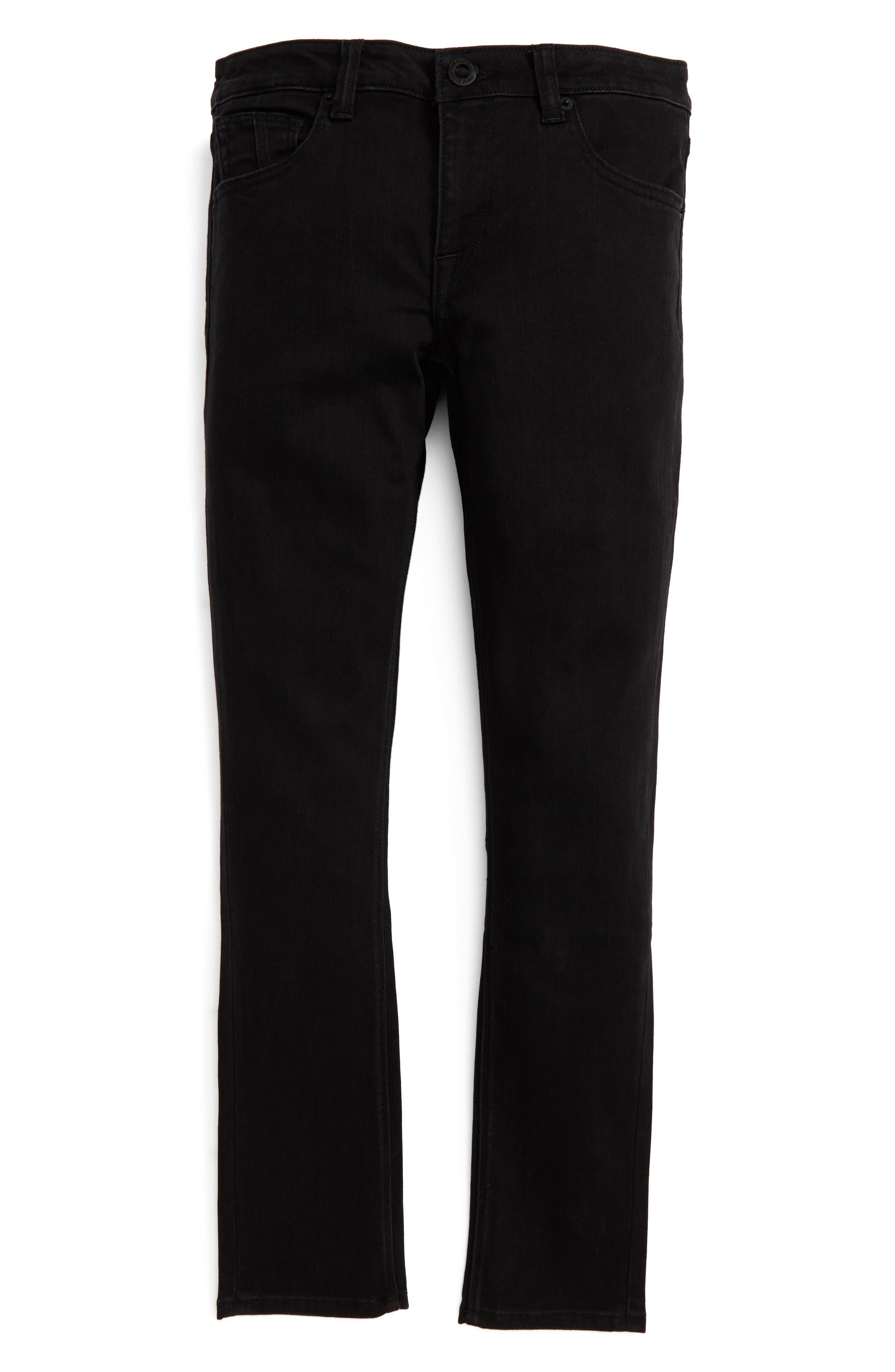'Solver' Straight Leg Denim Jeans,                             Main thumbnail 1, color,                             New Black