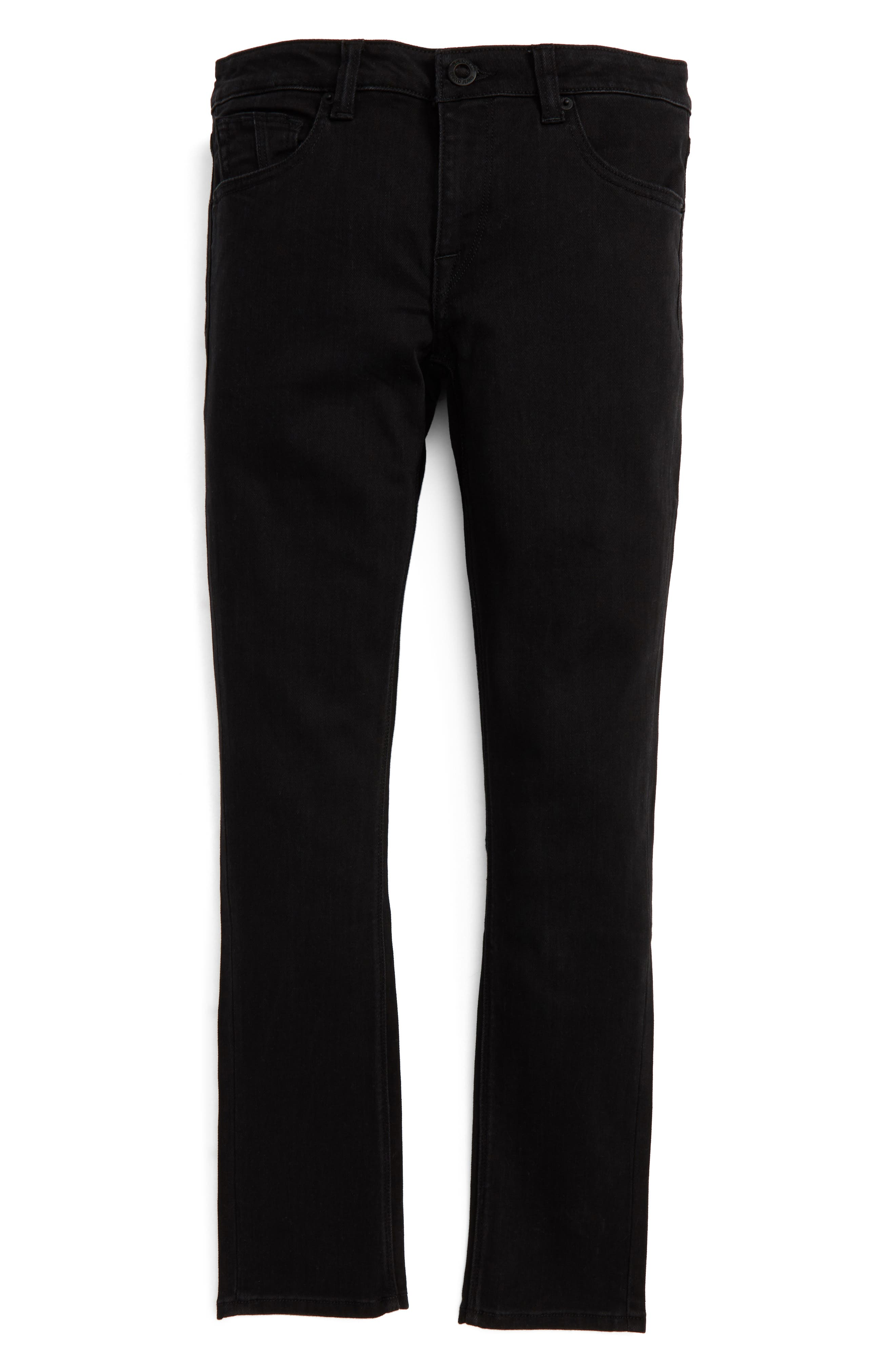'Solver' Straight Leg Denim Jeans,                         Main,                         color, New Black