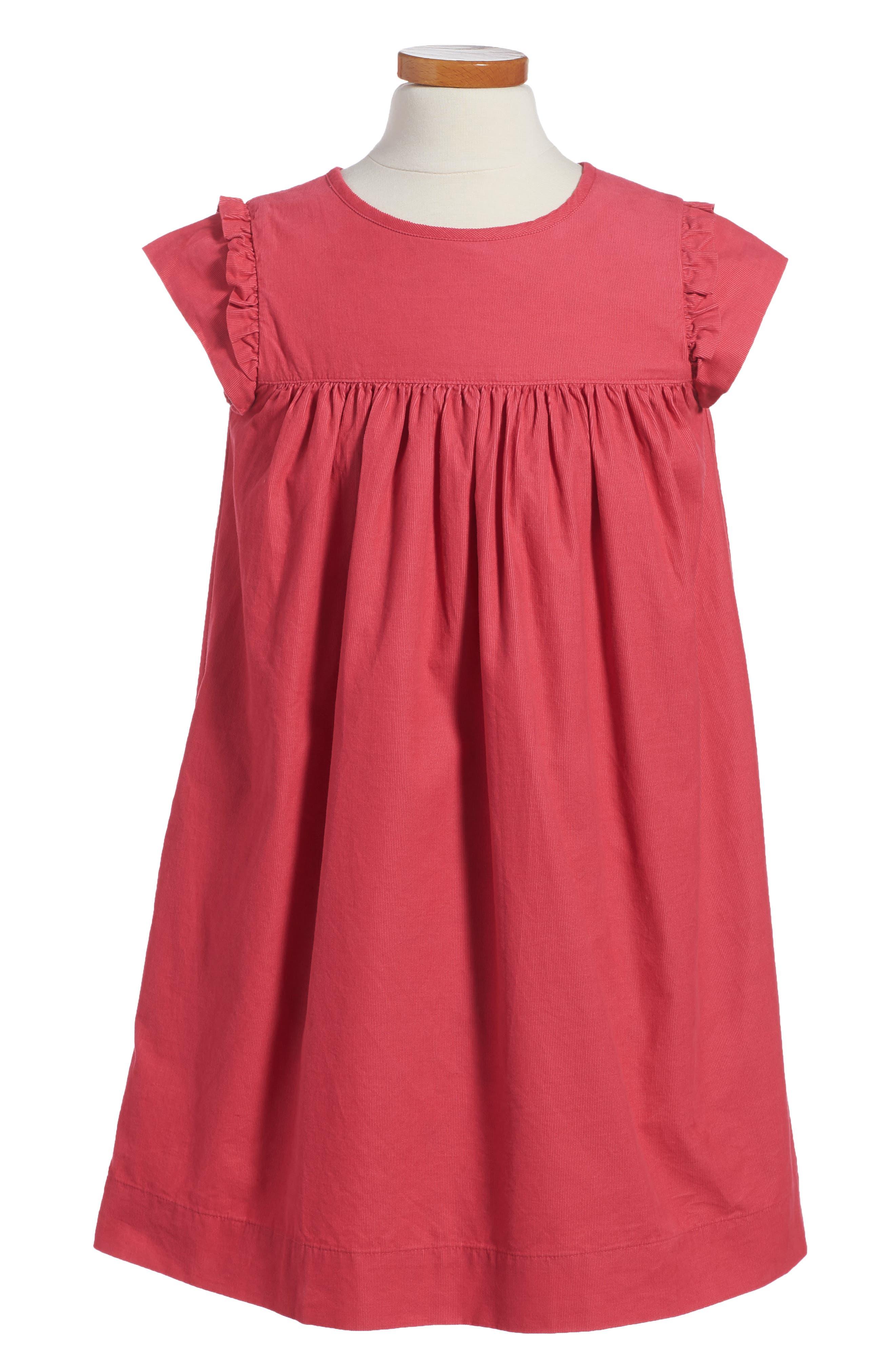 Pretty Corduroy Dress,                             Main thumbnail 1, color,                             Pink Honeysuckle