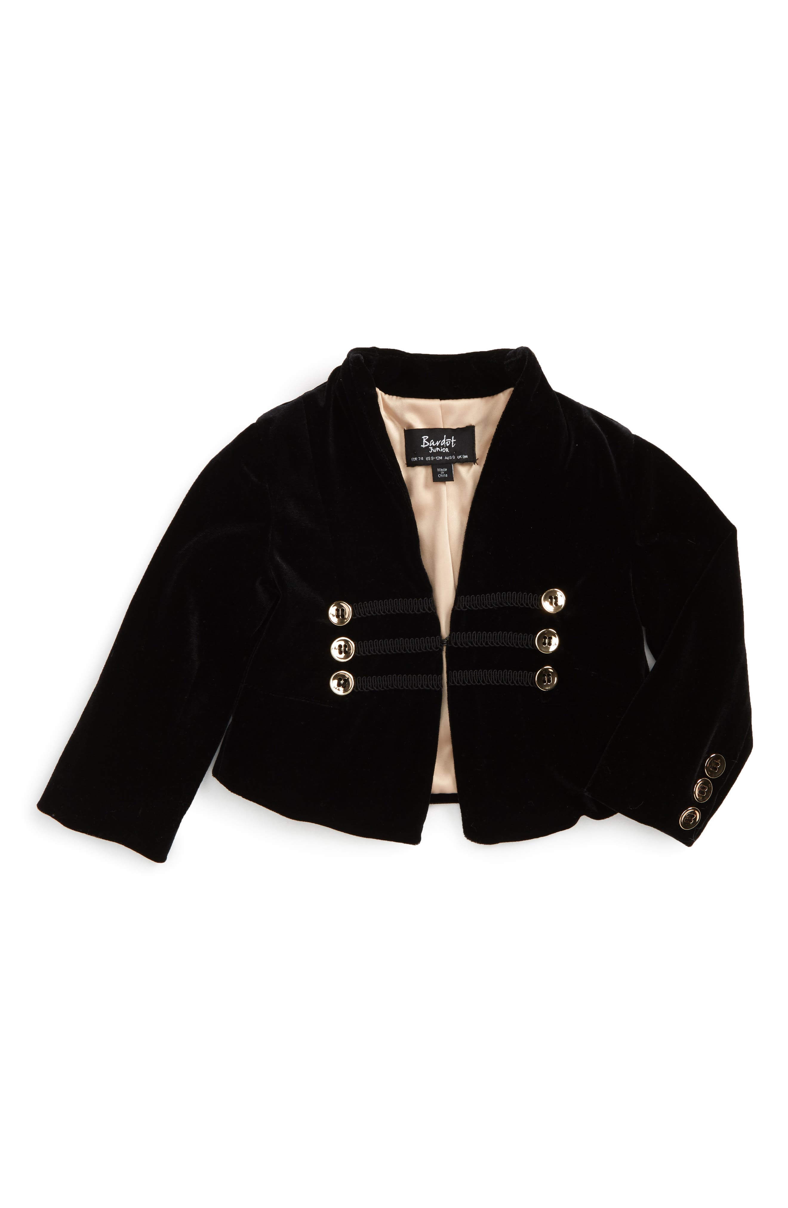 Bardot Junior Velvet Bolero Jacket (Baby Girls & Toddler Girls)